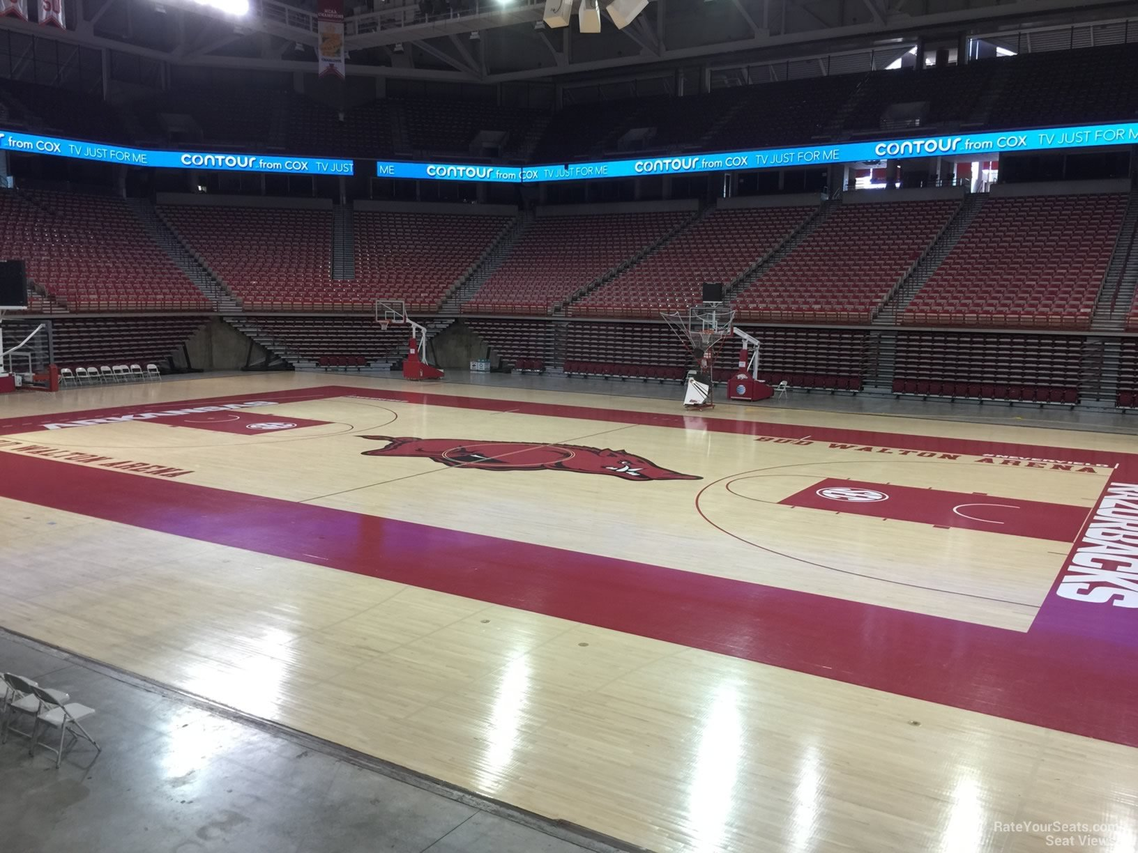Seat View for Bud Walton Arena Section 130, Row 1