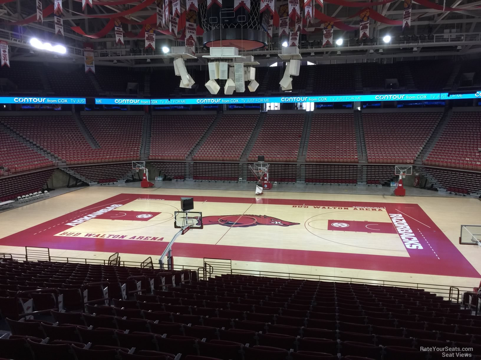 Seat View for Bud Walton Arena Section 135, Row 20