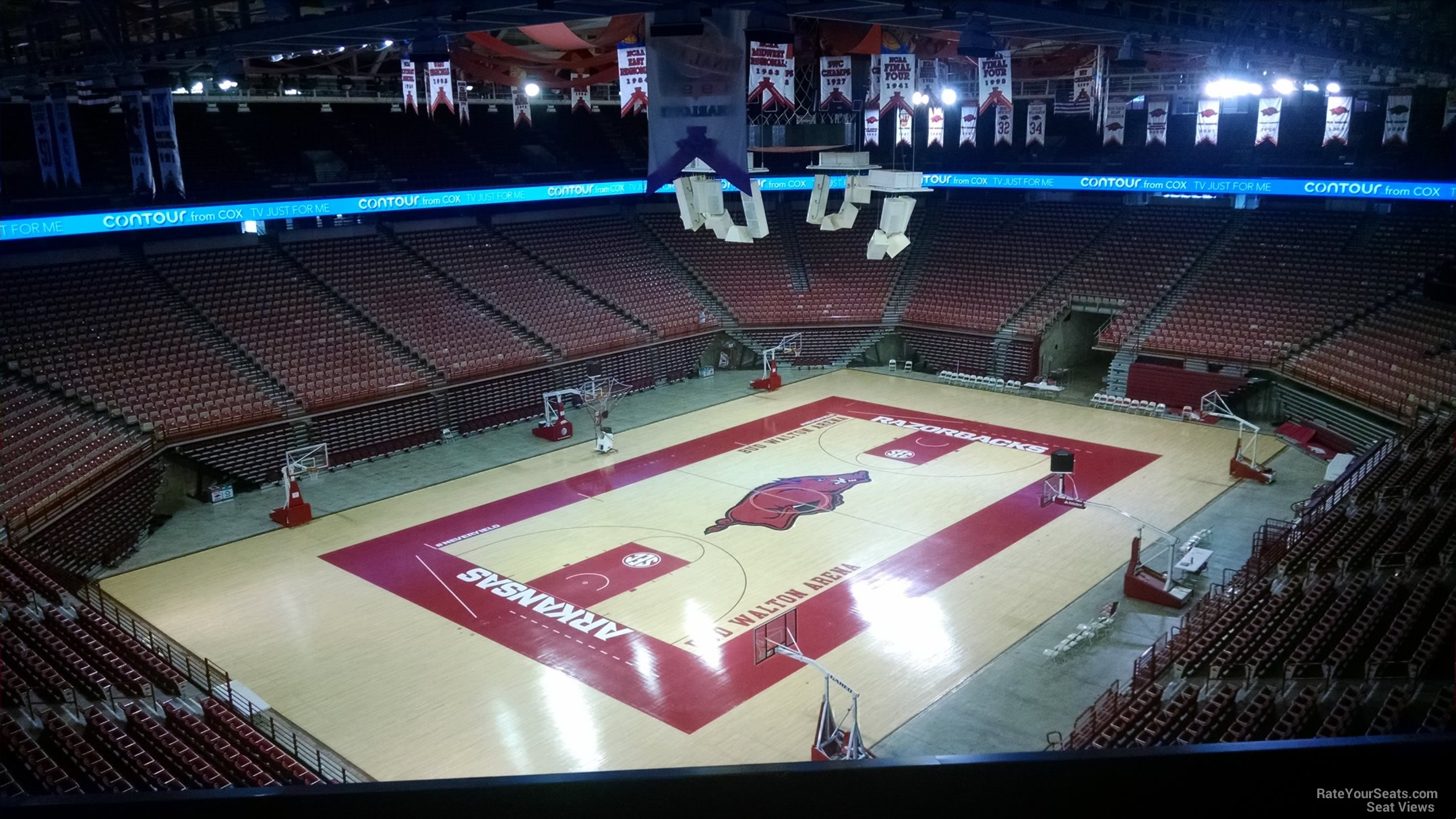 Seat View for Bud Walton Arena Section 205, Row 8