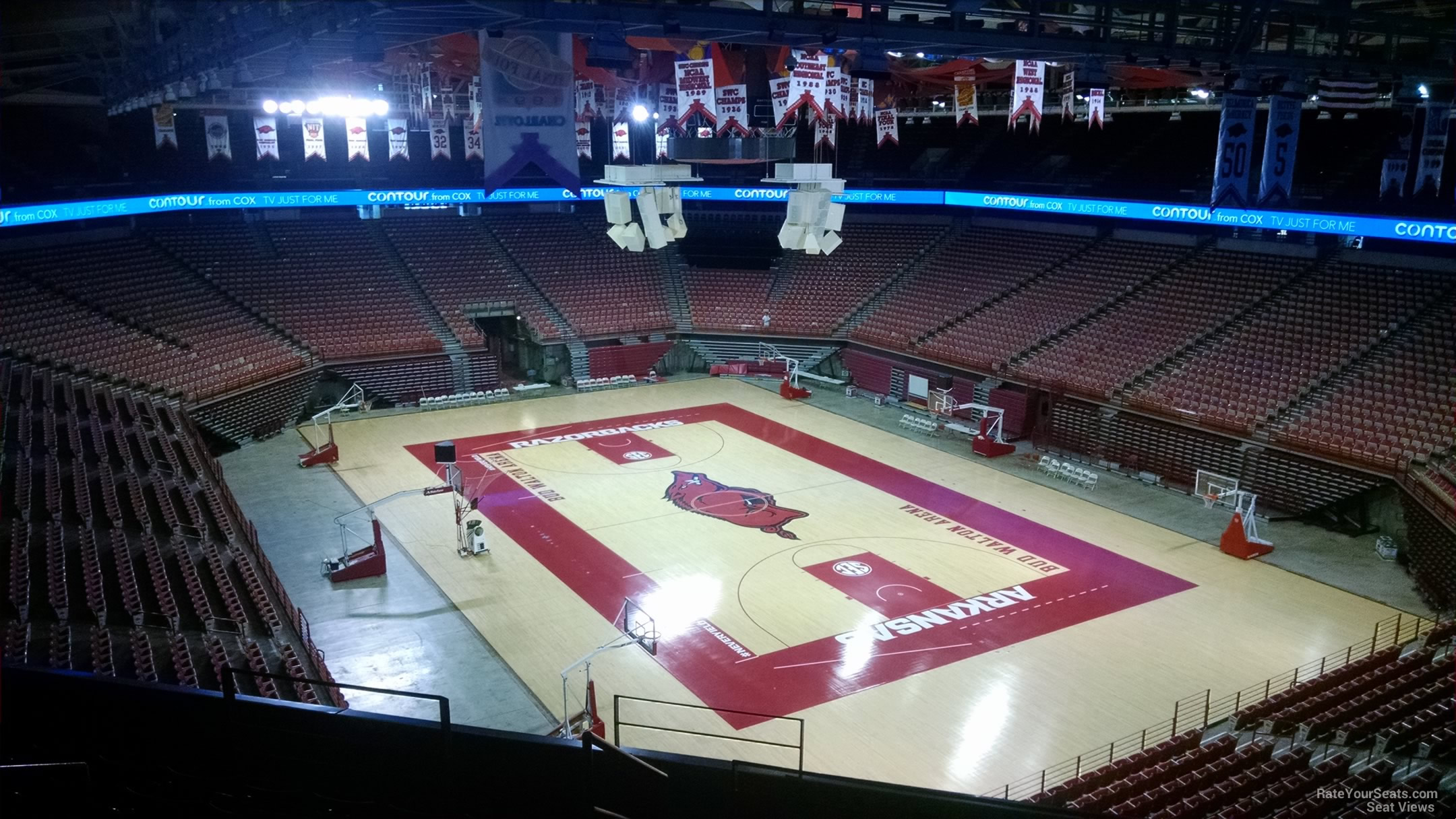 Seat View for Bud Walton Arena Section 212, Row 8