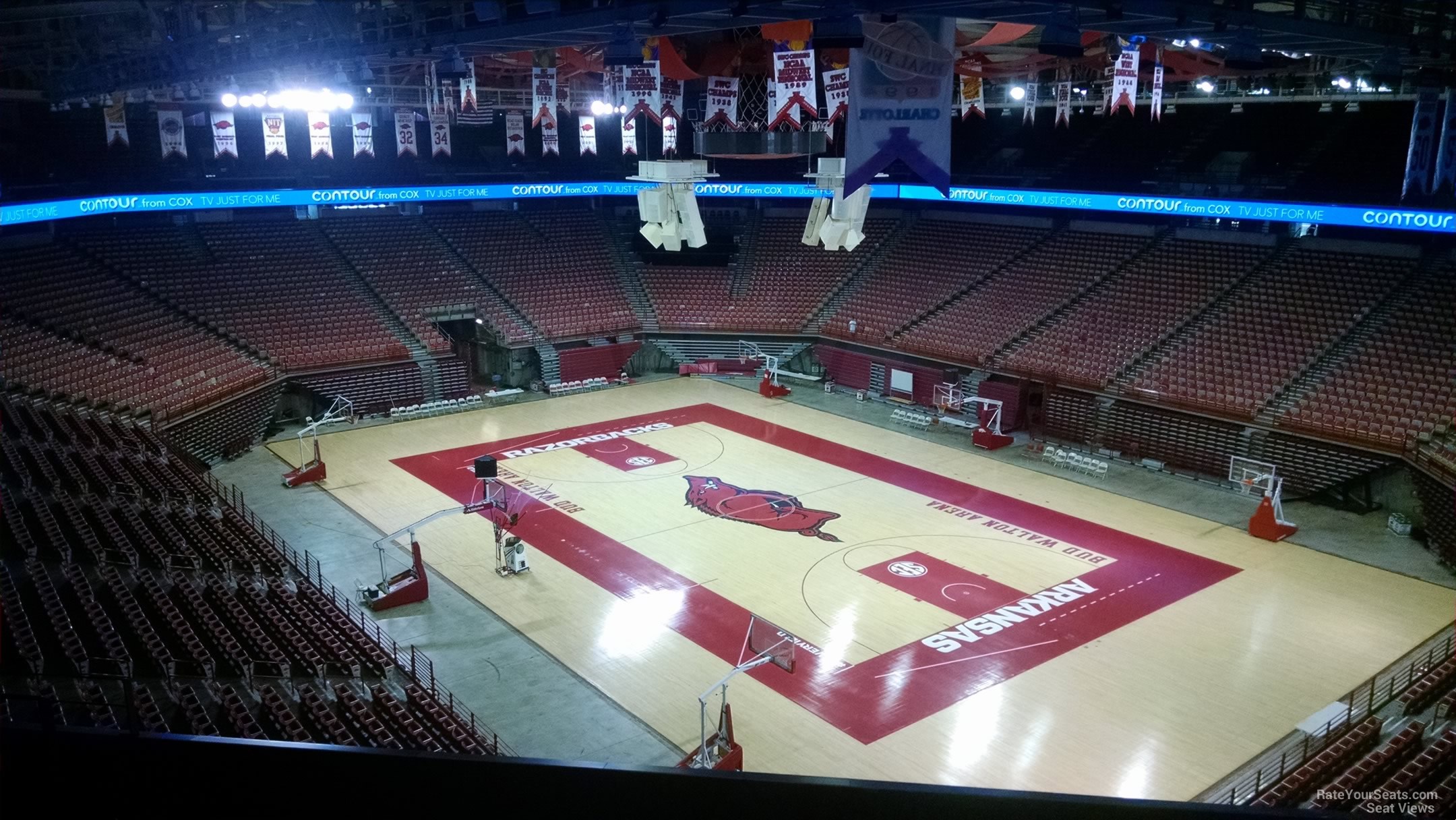 Seat View for Bud Walton Arena Section 213, Row 8