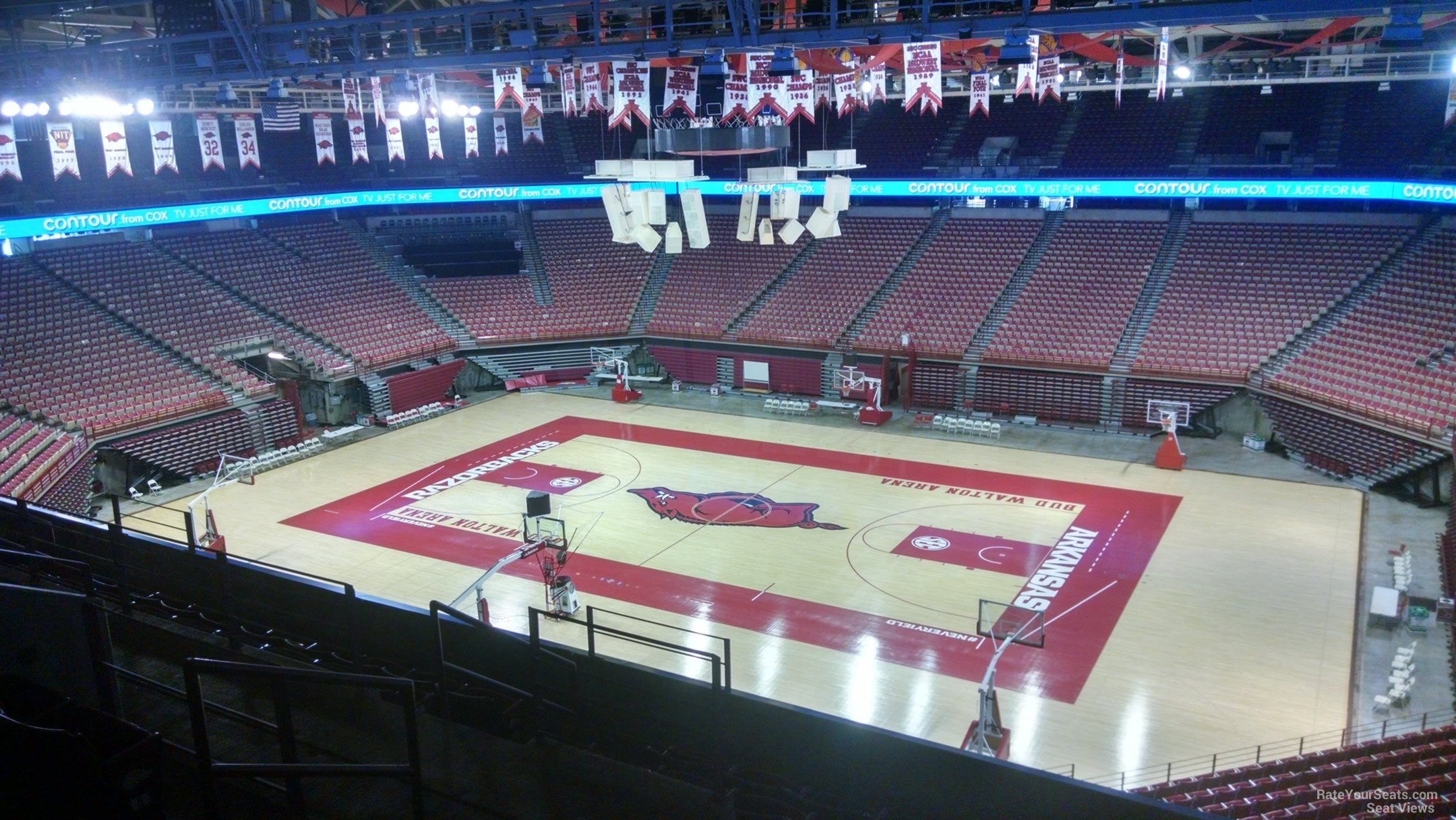 Seat View for Bud Walton Arena Section 215, Row 8