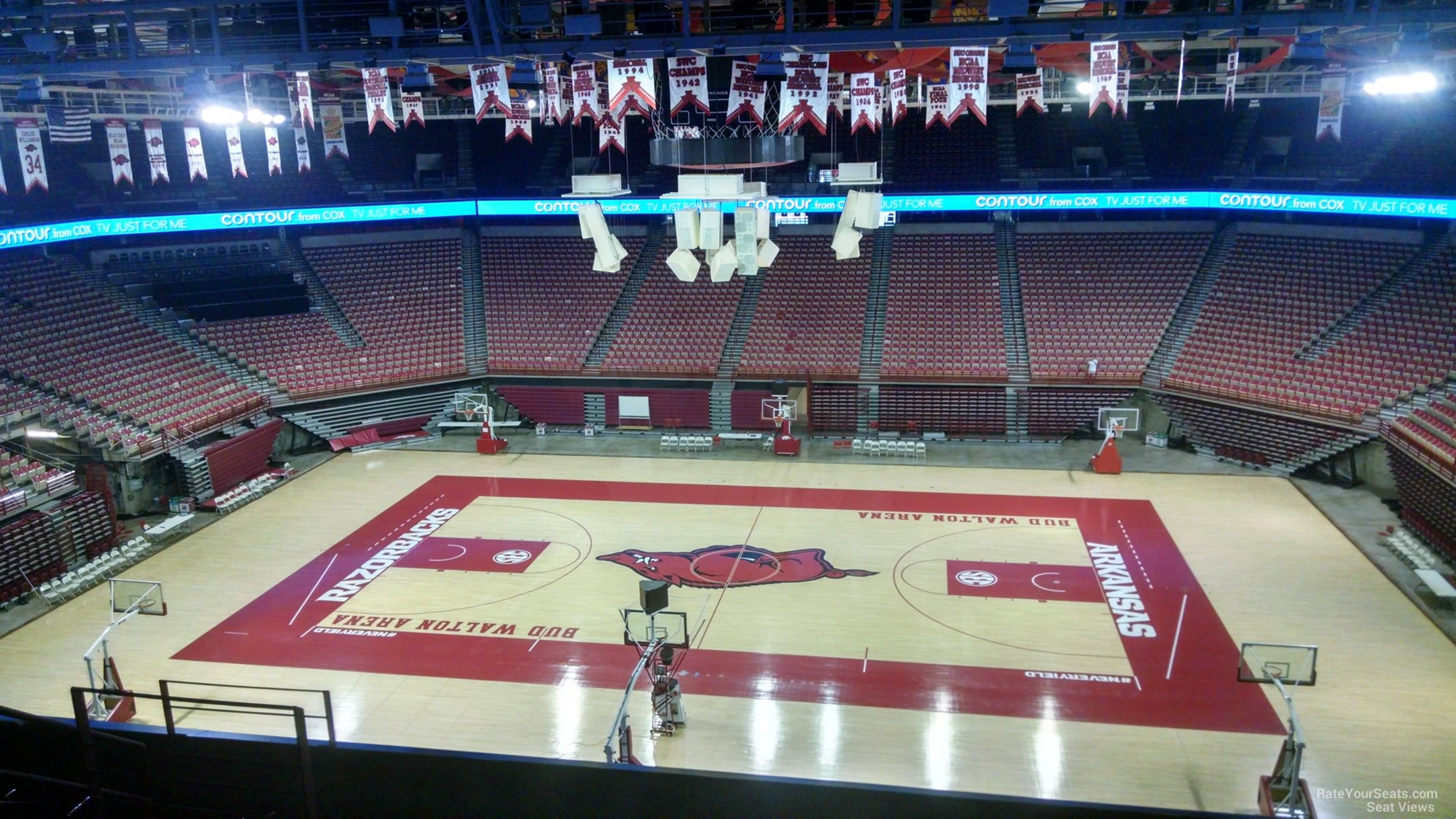 Seat View for Bud Walton Arena Section 217, Row 8