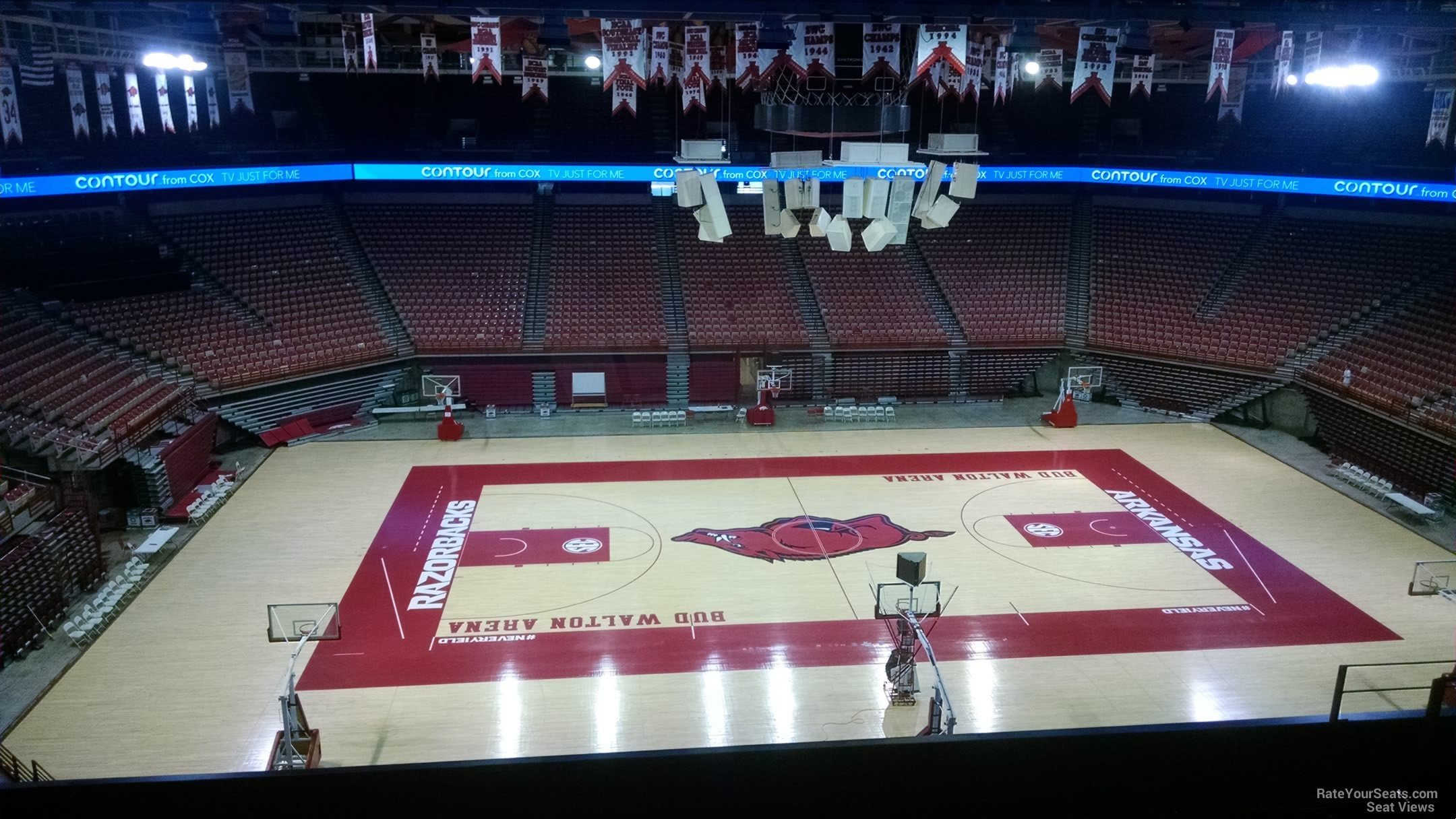 Seat View for Bud Walton Arena Section 219, Row 8