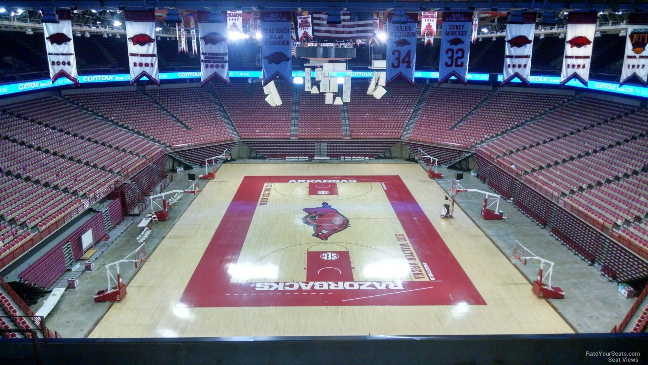Seat View for Bud Walton Arena Section 227, Row 8