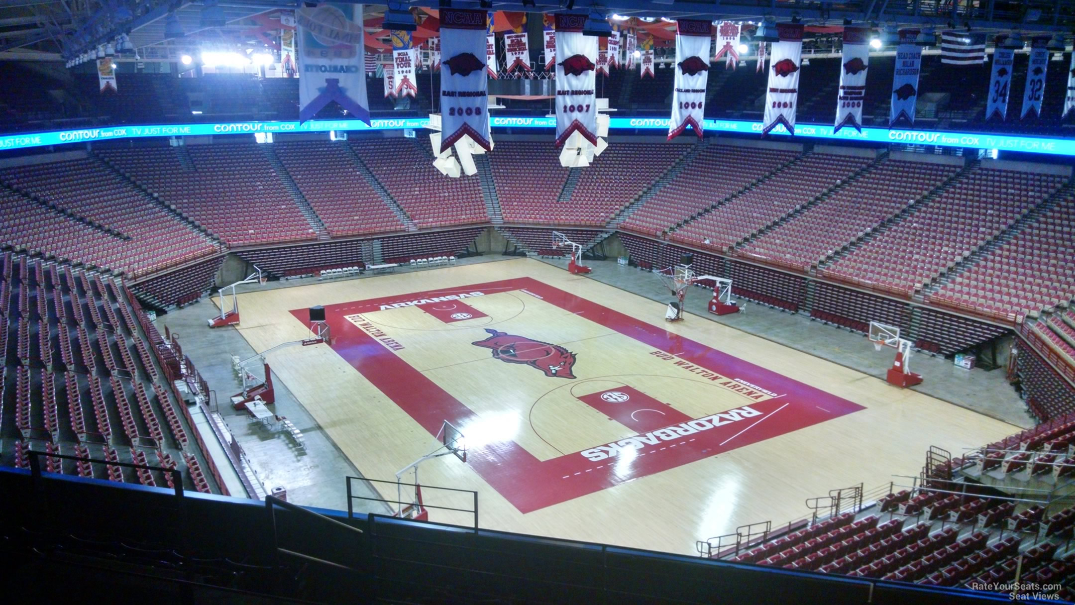 Seat View for Bud Walton Arena Section 230, Row 8