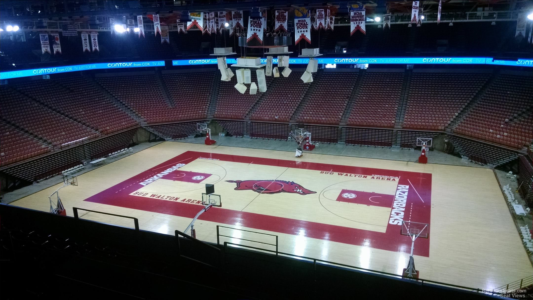 Seat View for Bud Walton Arena Section 234, Row 8