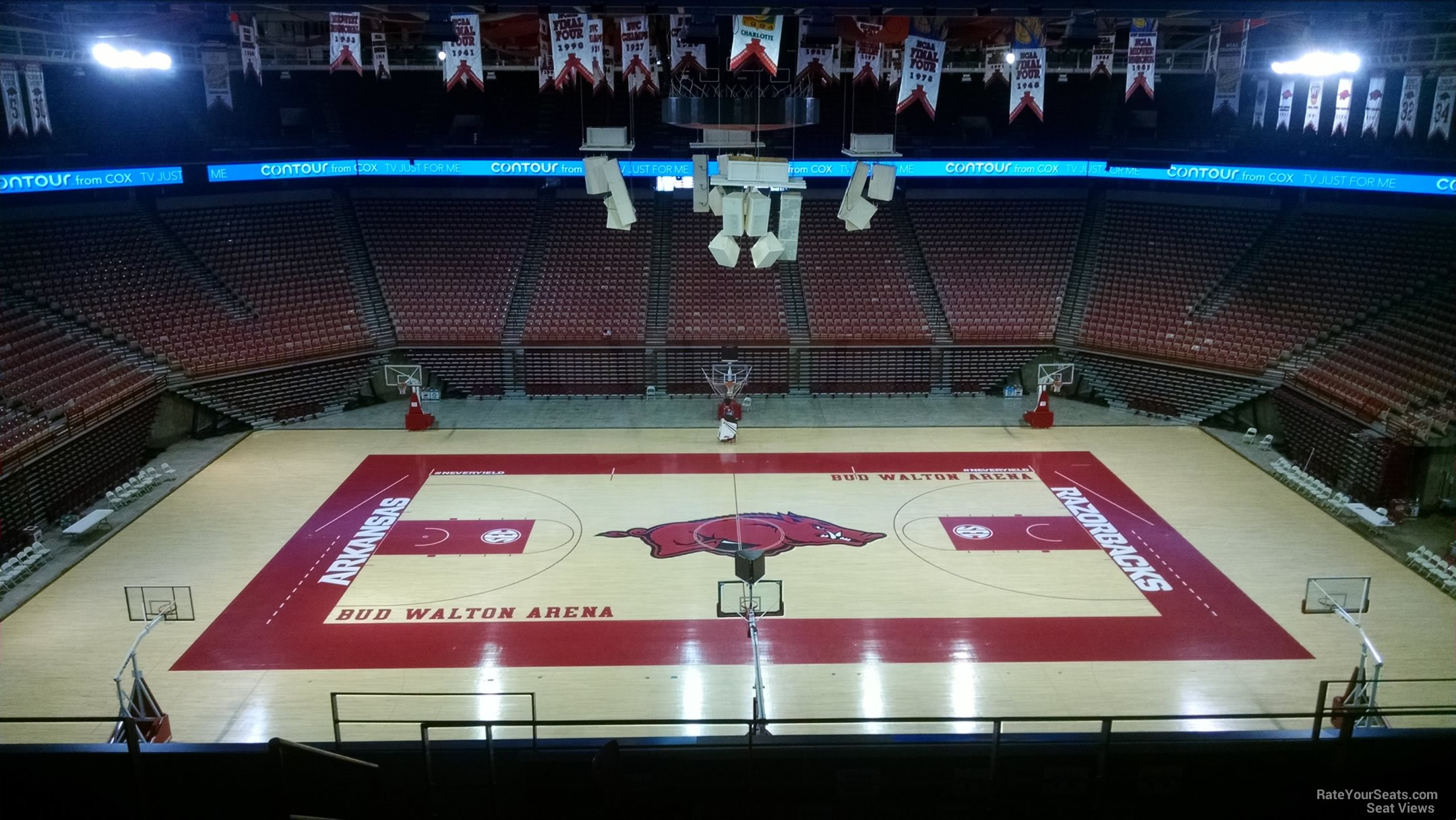 Seat View for Bud Walton Arena Section 236, Row 8