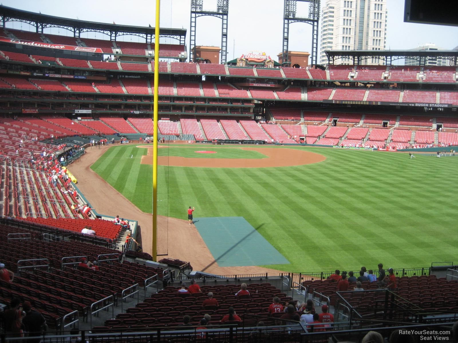 Seat View for Busch Stadium Section 129, Row 29