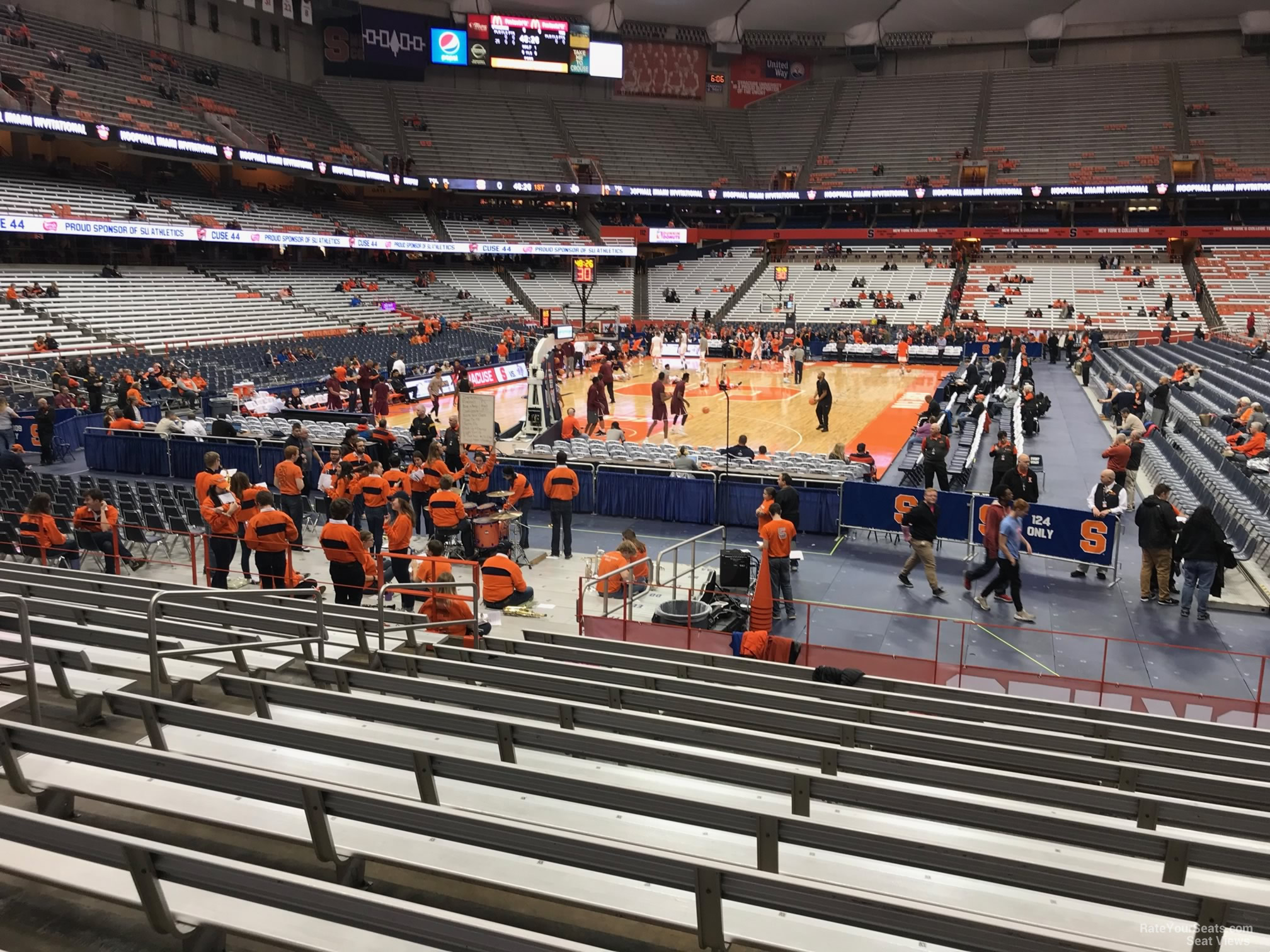 Carrier Dome Section 103 Syracuse Basketball