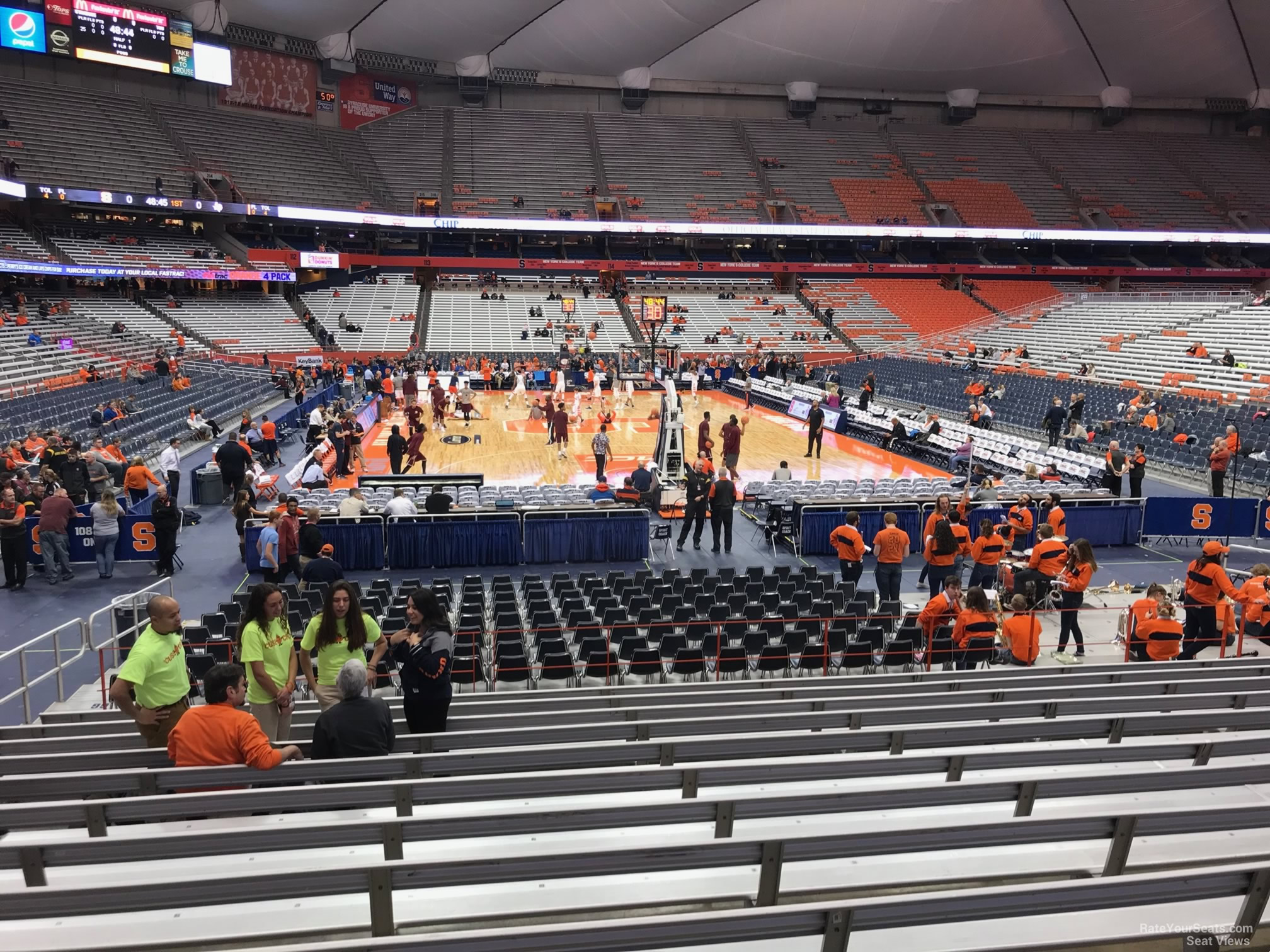 Syracuse Orange Seat View for Carrier Dome Section 104, Row M