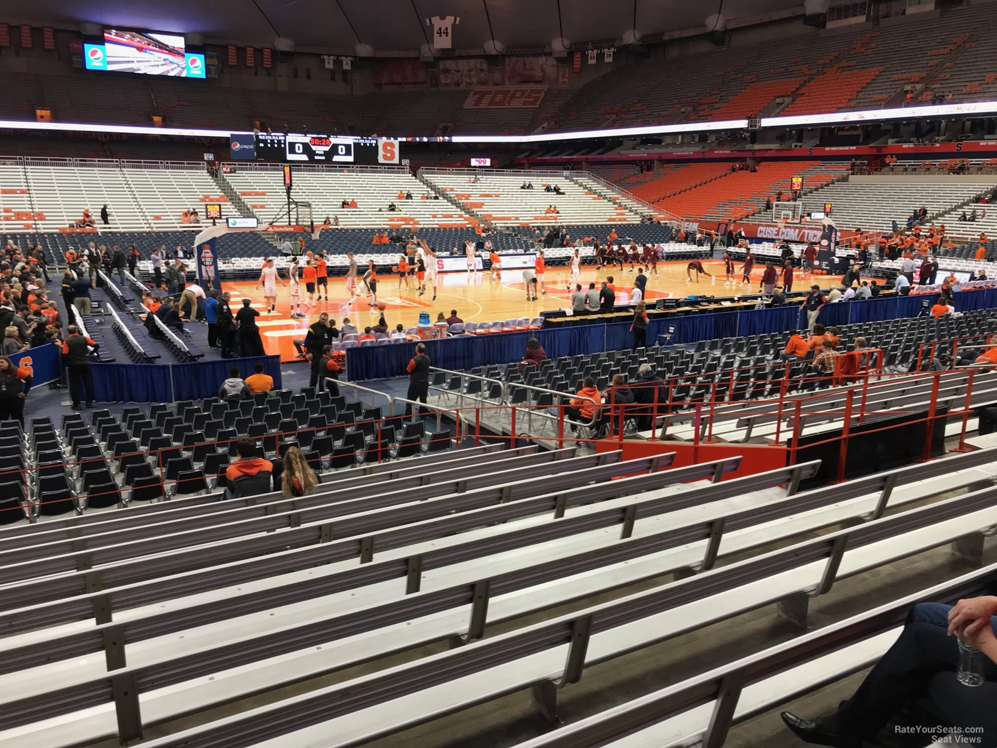 Syracuse Orange Seat View for Carrier Dome Section 110, Row M