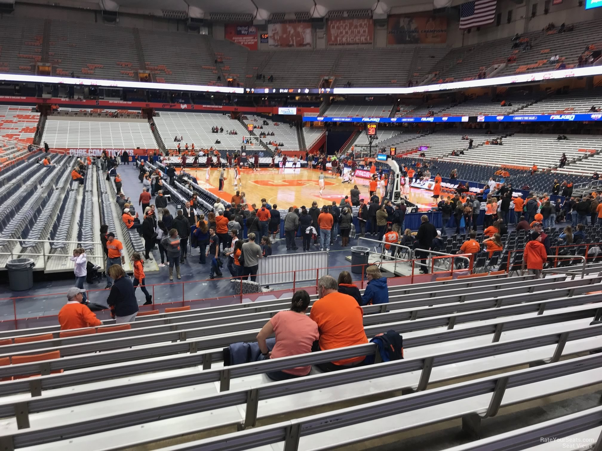 Syracuse Orange Seat View for Carrier Dome Section 115, Row M