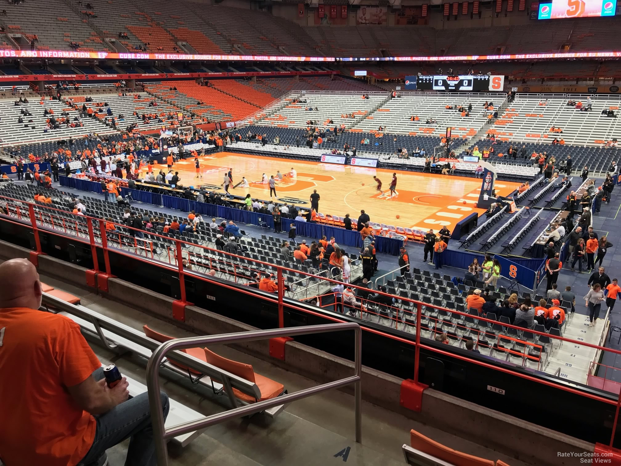 Syracuse Orange Seat View for Carrier Dome Section 210, Row F