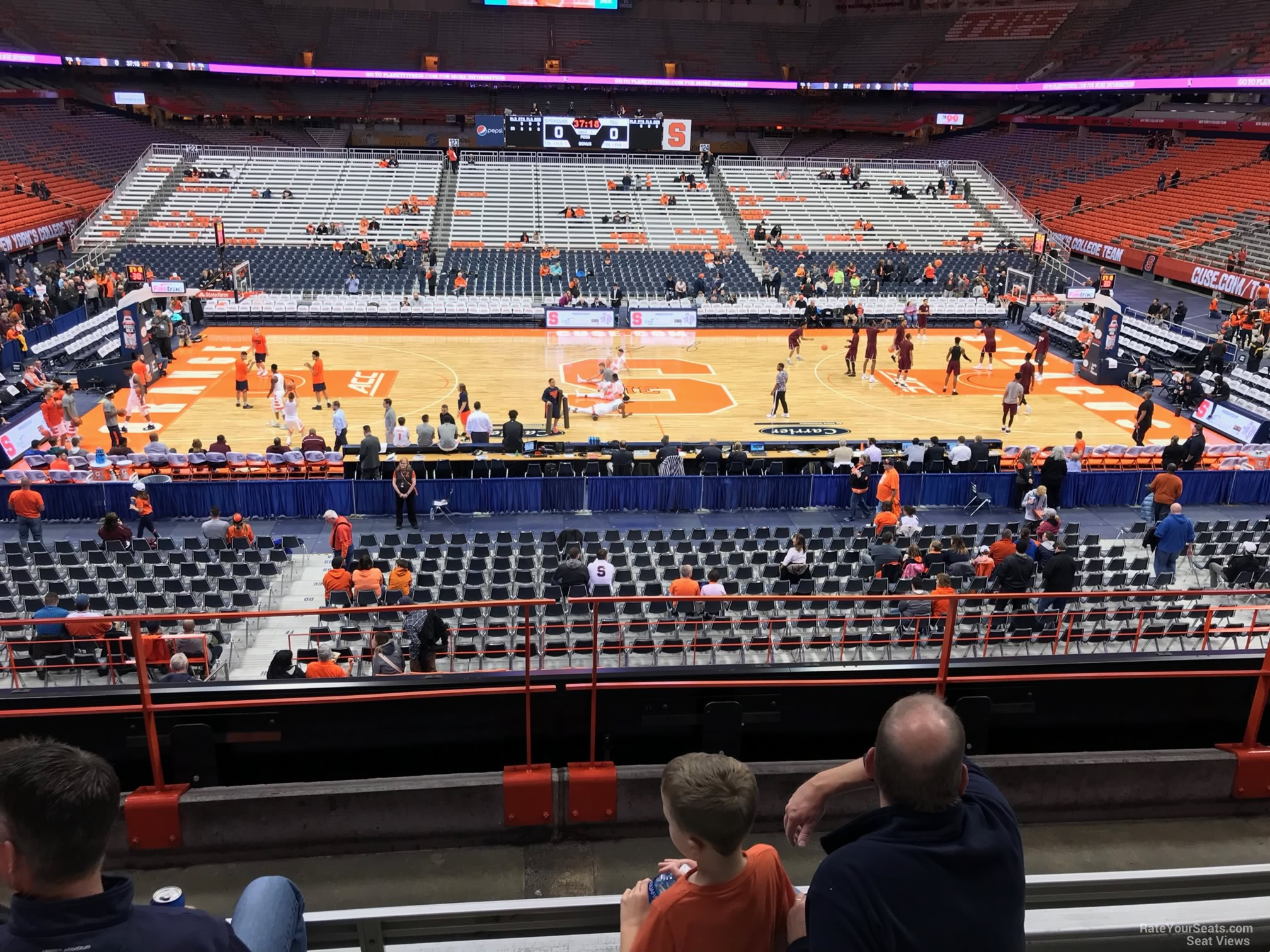 Syracuse Orange Seat View for Carrier Dome Section 212, Row F