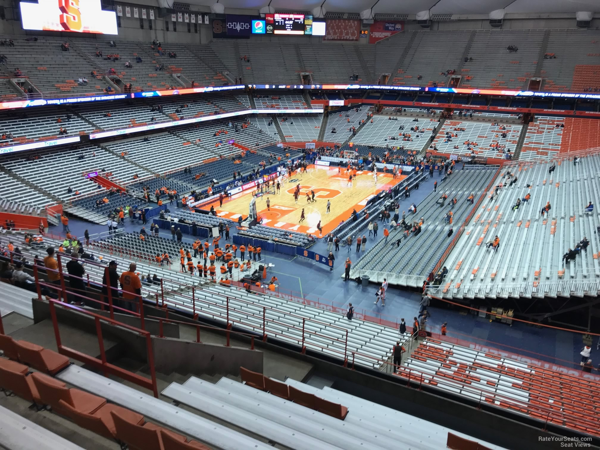 Syracuse Orange Seat View for Carrier Dome Section 301, Row M