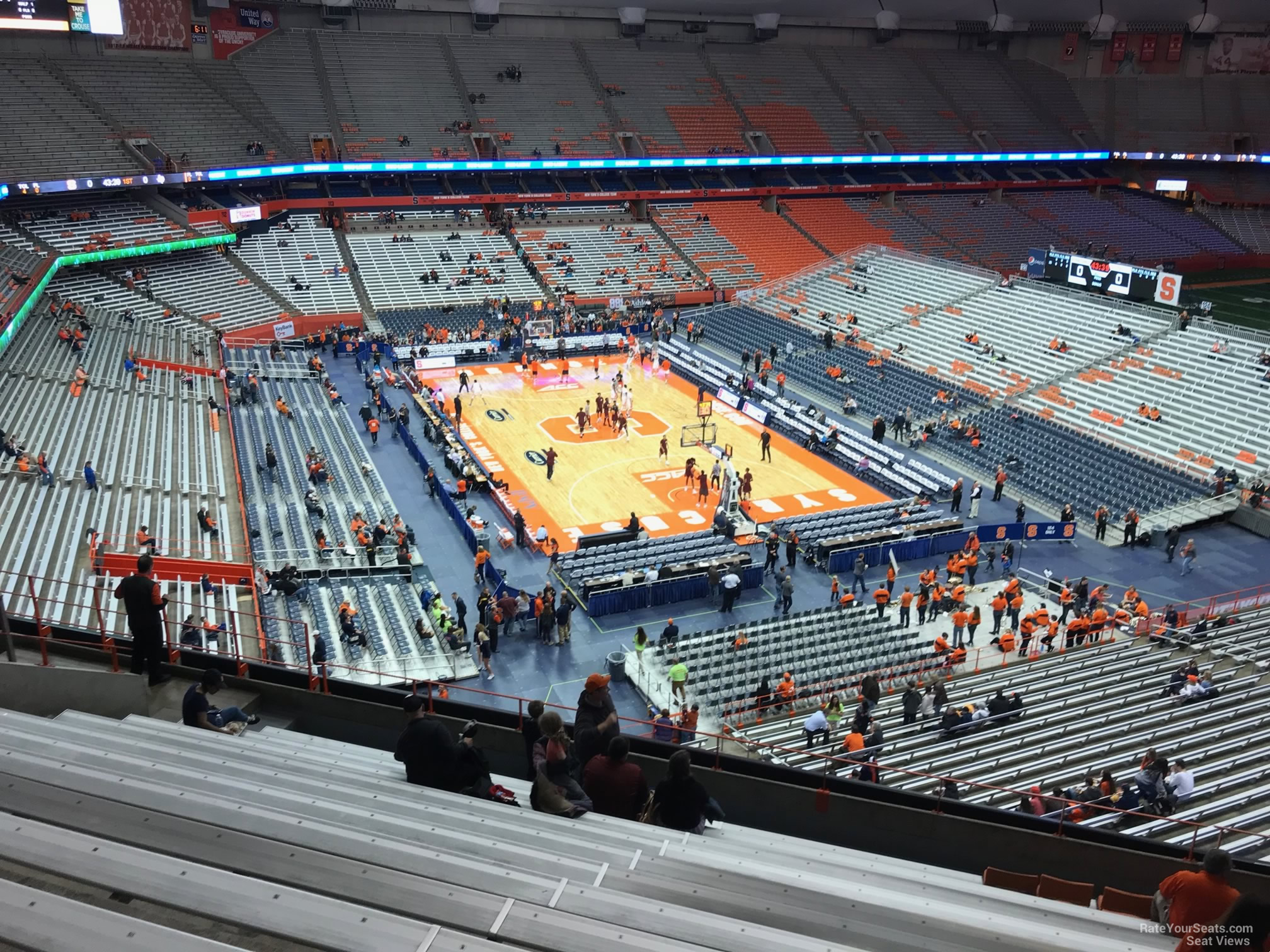 Syracuse Orange Seat View for Carrier Dome Section 305, Row M