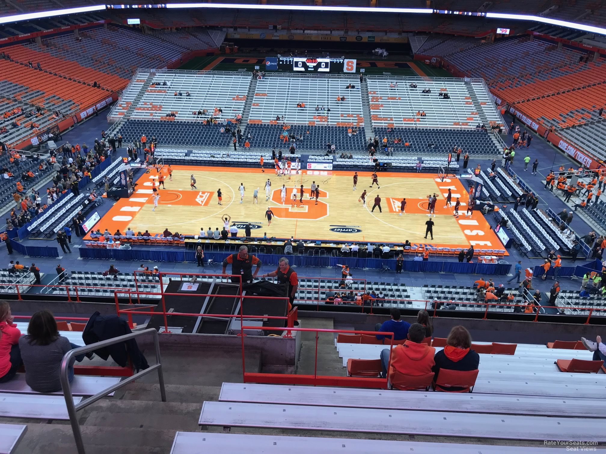Syracuse Orange Seat View for Carrier Dome Section 310, Row M