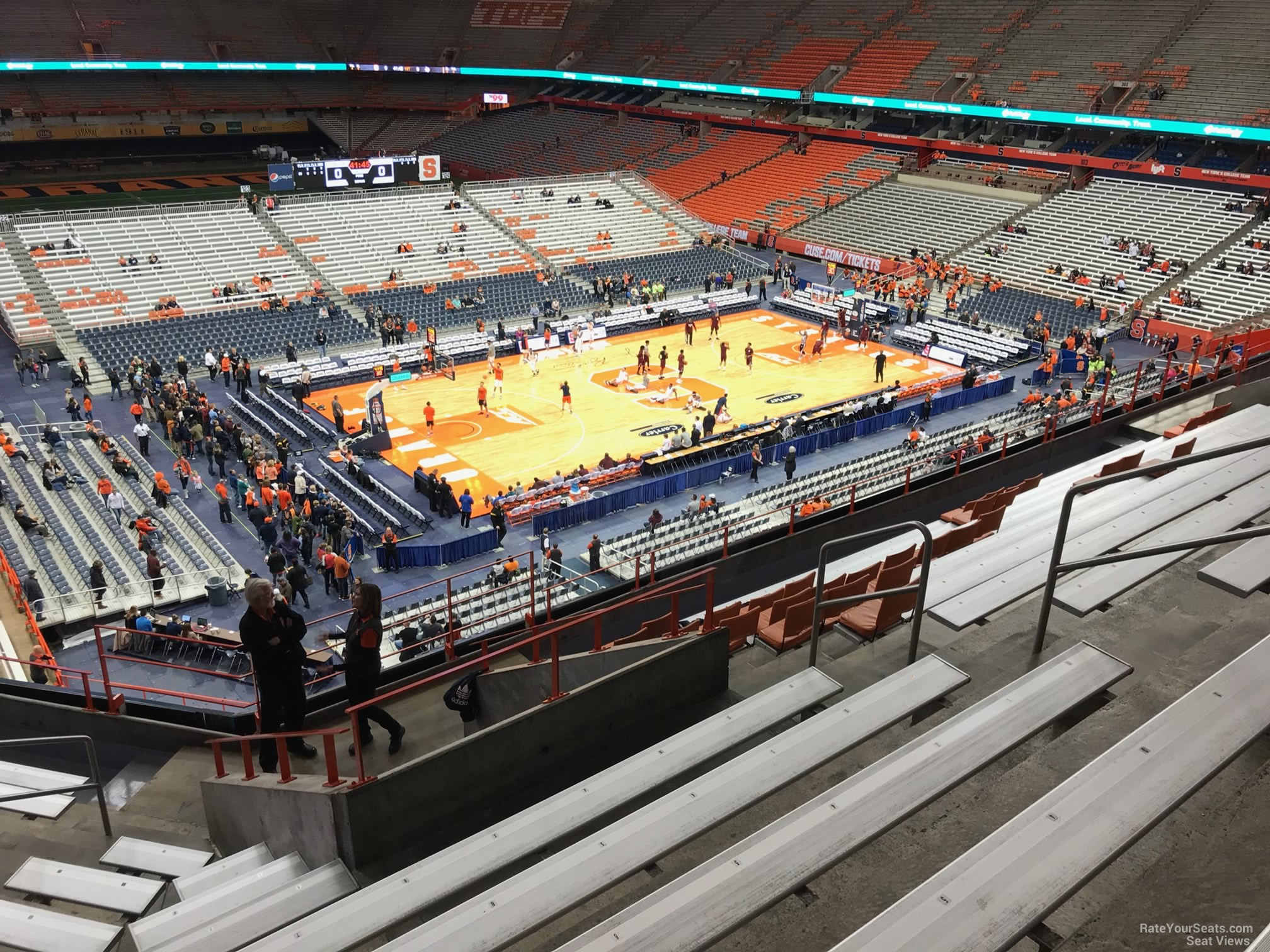 Syracuse Orange Seat View for Carrier Dome Section 312, Row M
