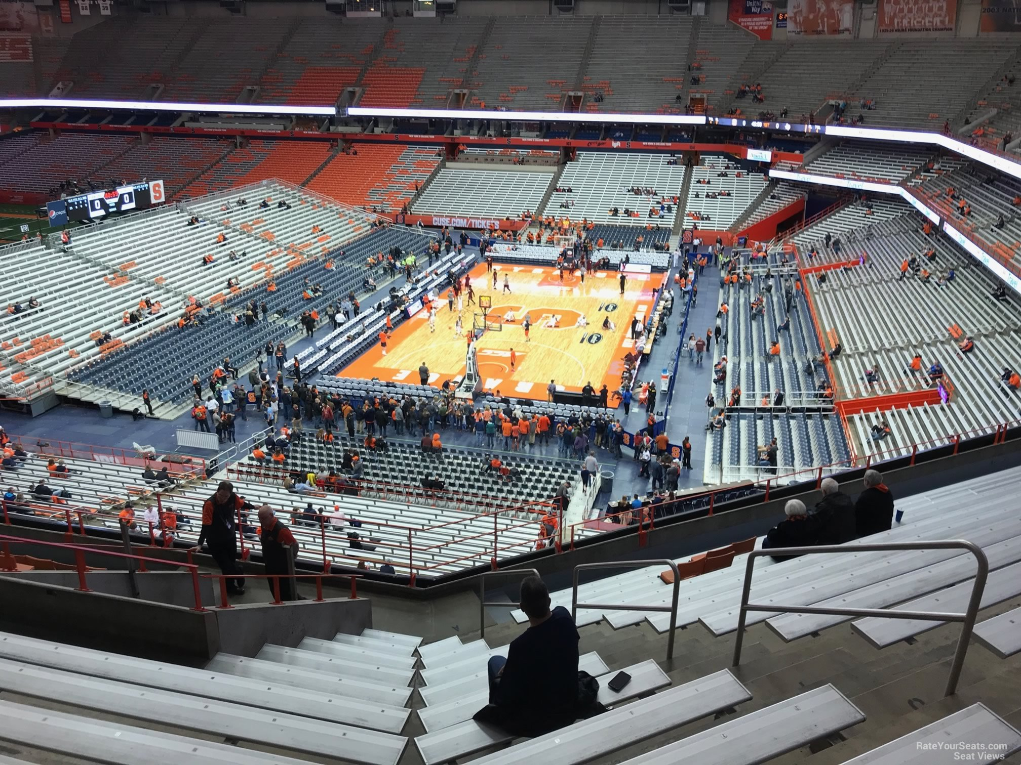 Syracuse Orange Seat View for Carrier Dome Section 315, Row M