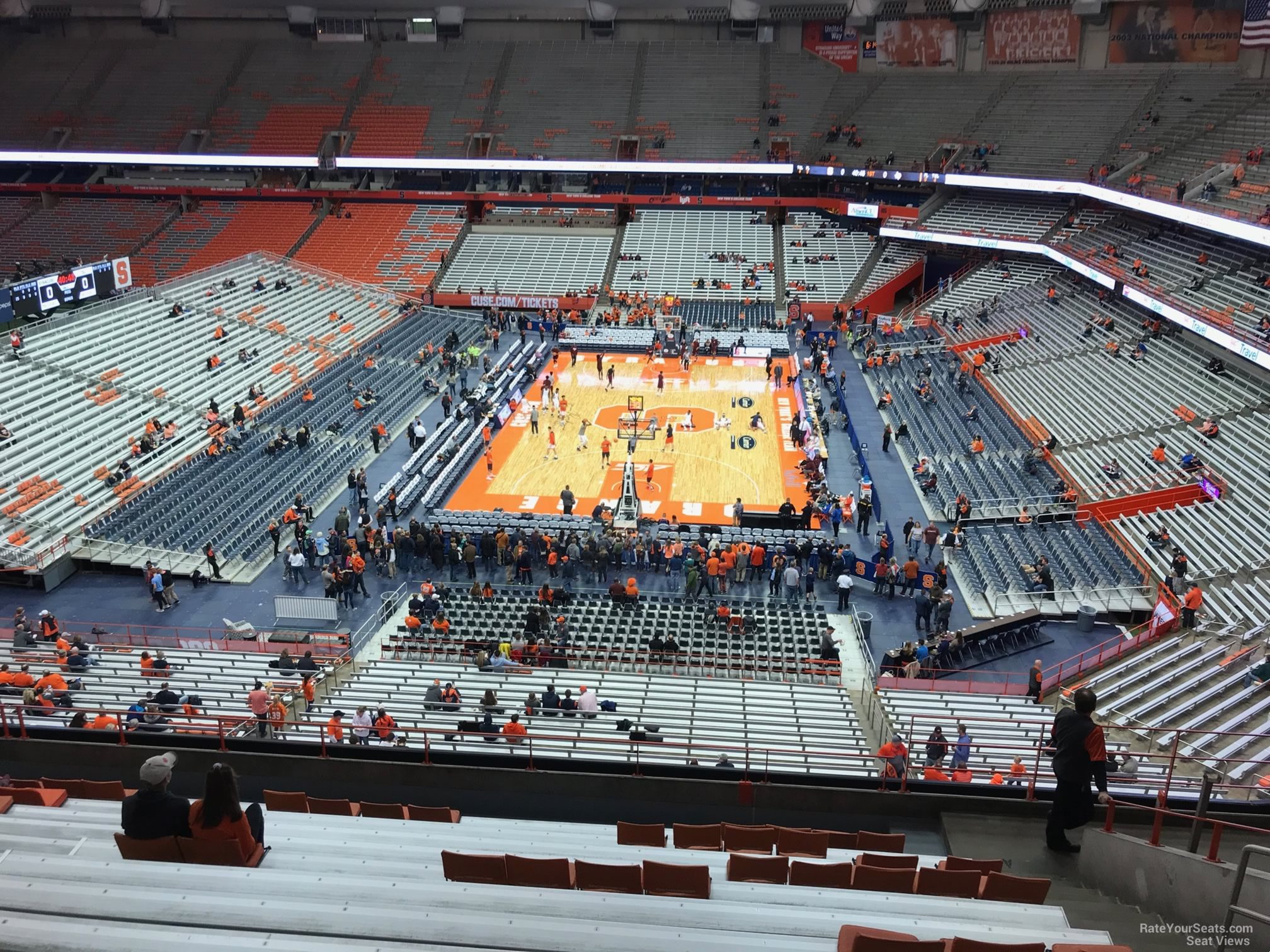 Syracuse Orange Seat View for Carrier Dome Section 316, Row M