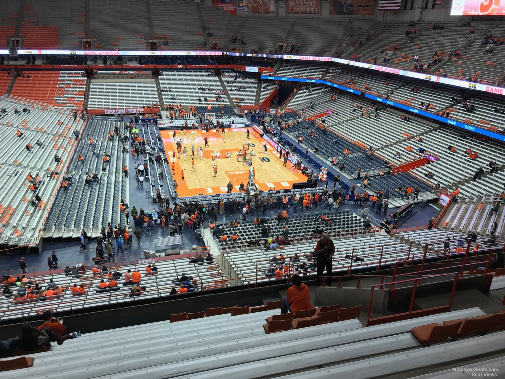 Carrier Dome Section 317 Syracuse Basketball