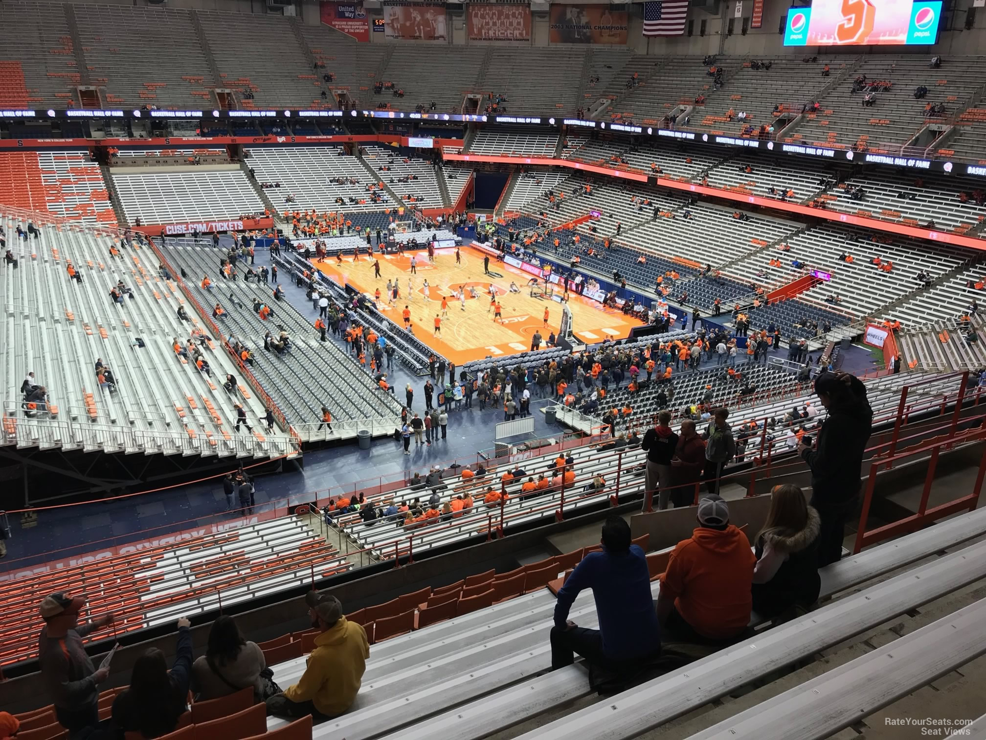 Carrier Dome Section 318 Syracuse Basketball