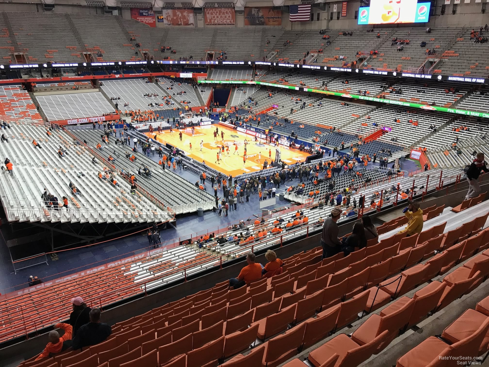 Carrier Dome Section 319 Syracuse Basketball