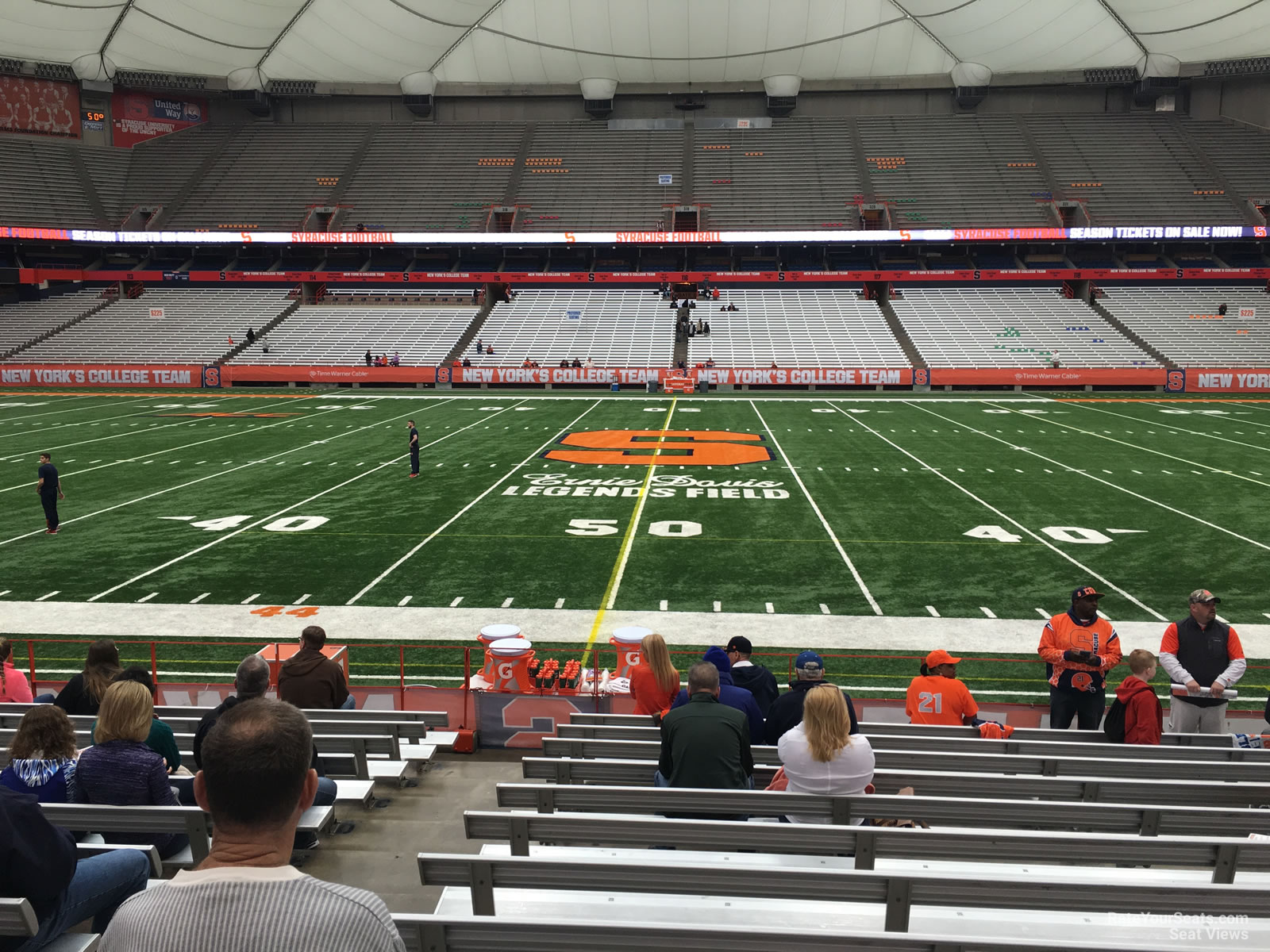 Carrier Dome Section 101 Syracuse Football Rateyourseatscom