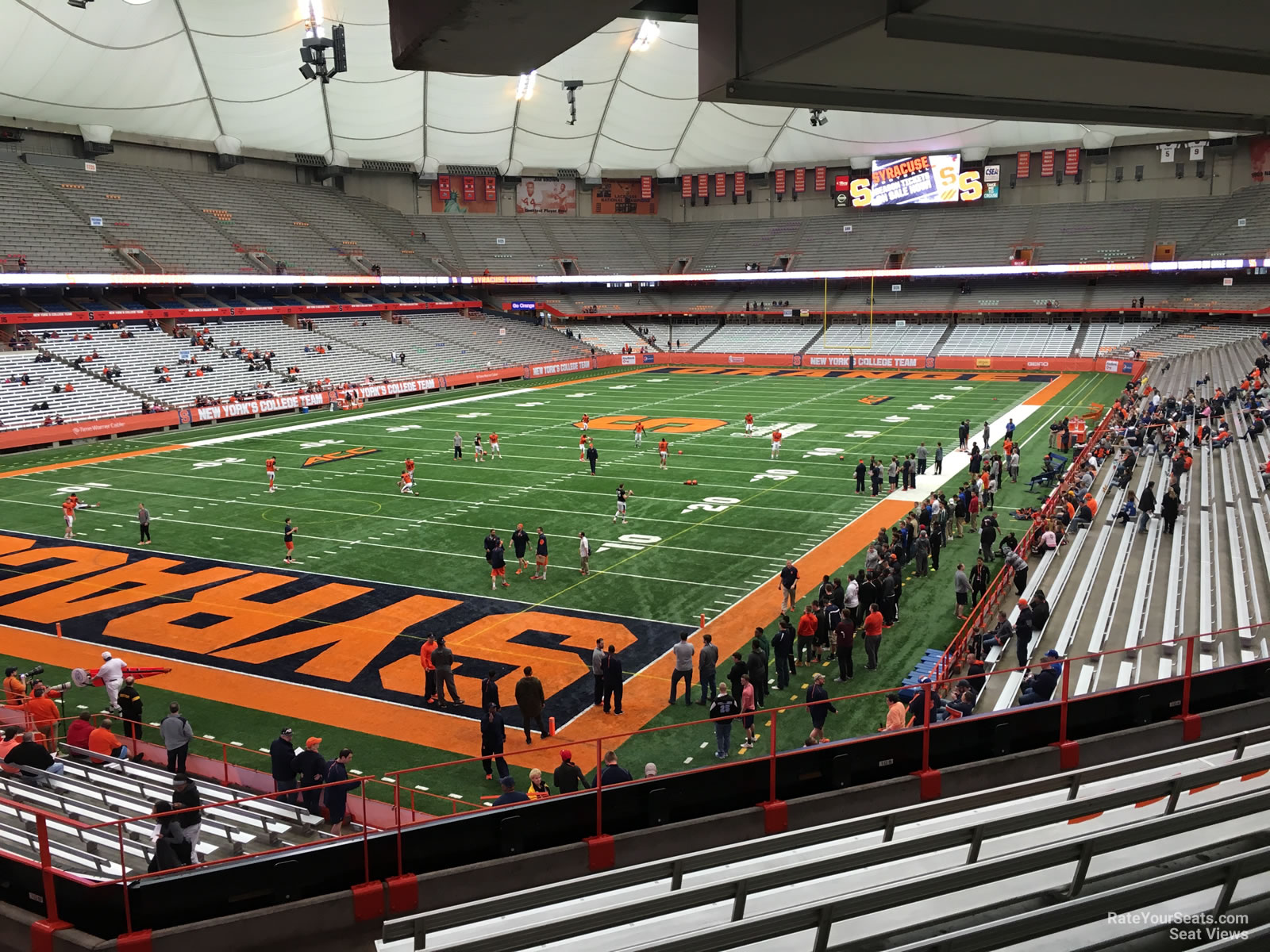 Syracuse Orange Seat View for Carrier Dome Section 209, Row H