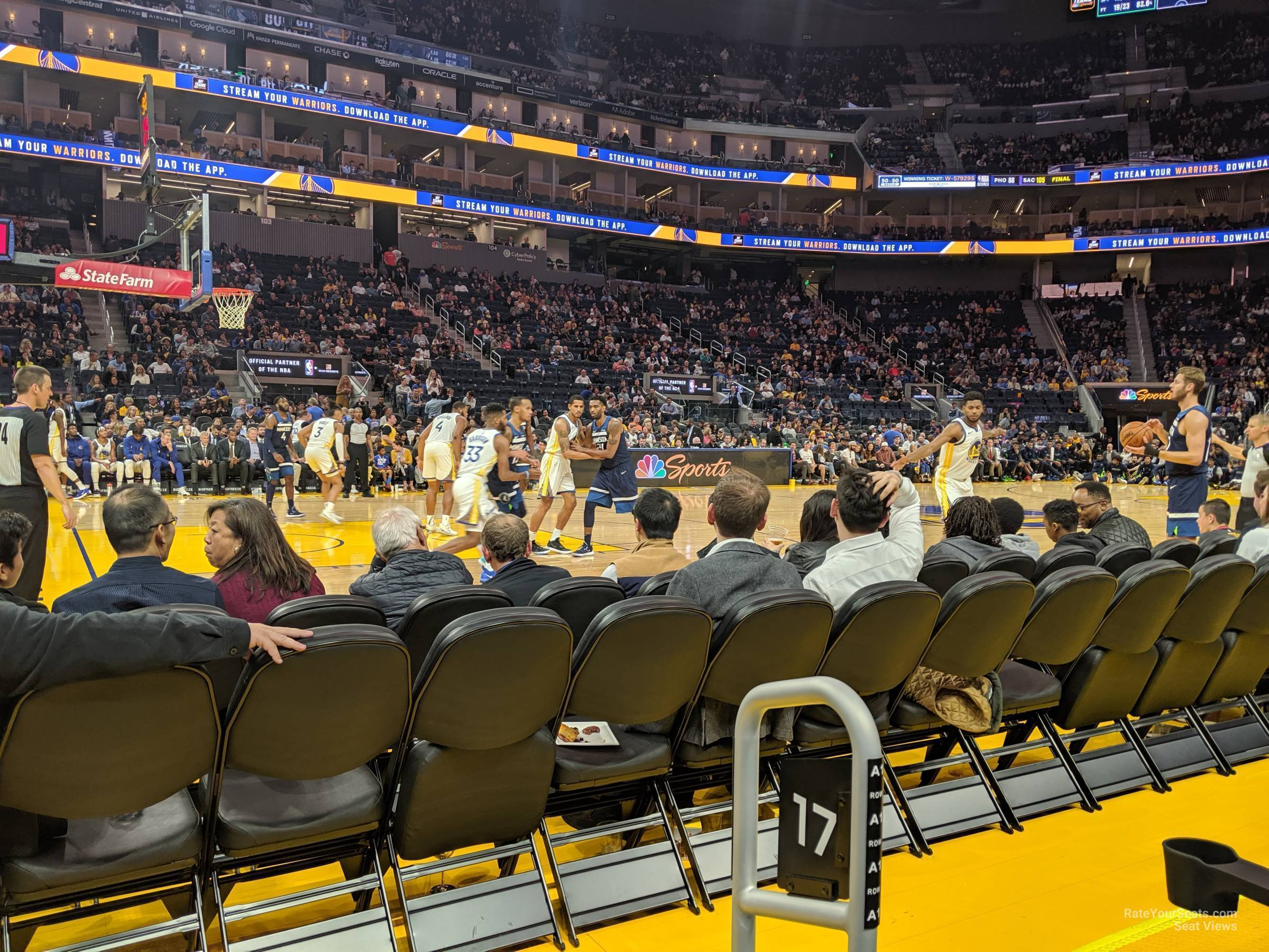 Section 17 At Chase Center Golden State Warriors Rateyourseats Com