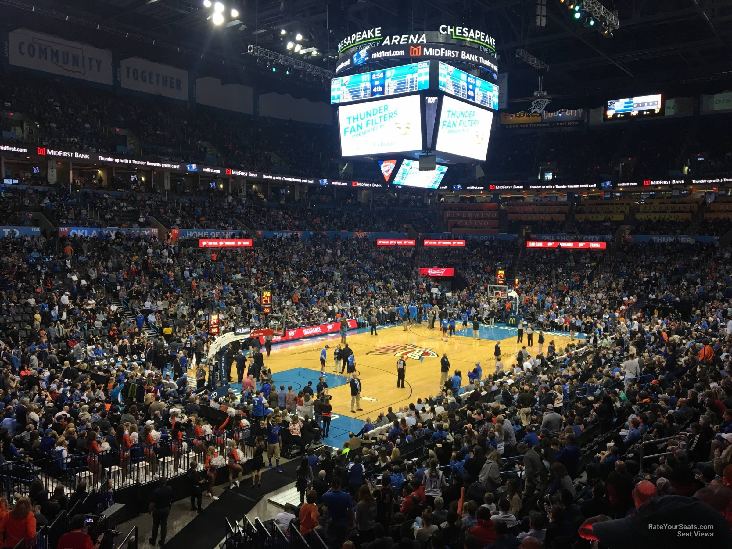 Seat View for Chesapeake Energy Arena Section 108, Row U