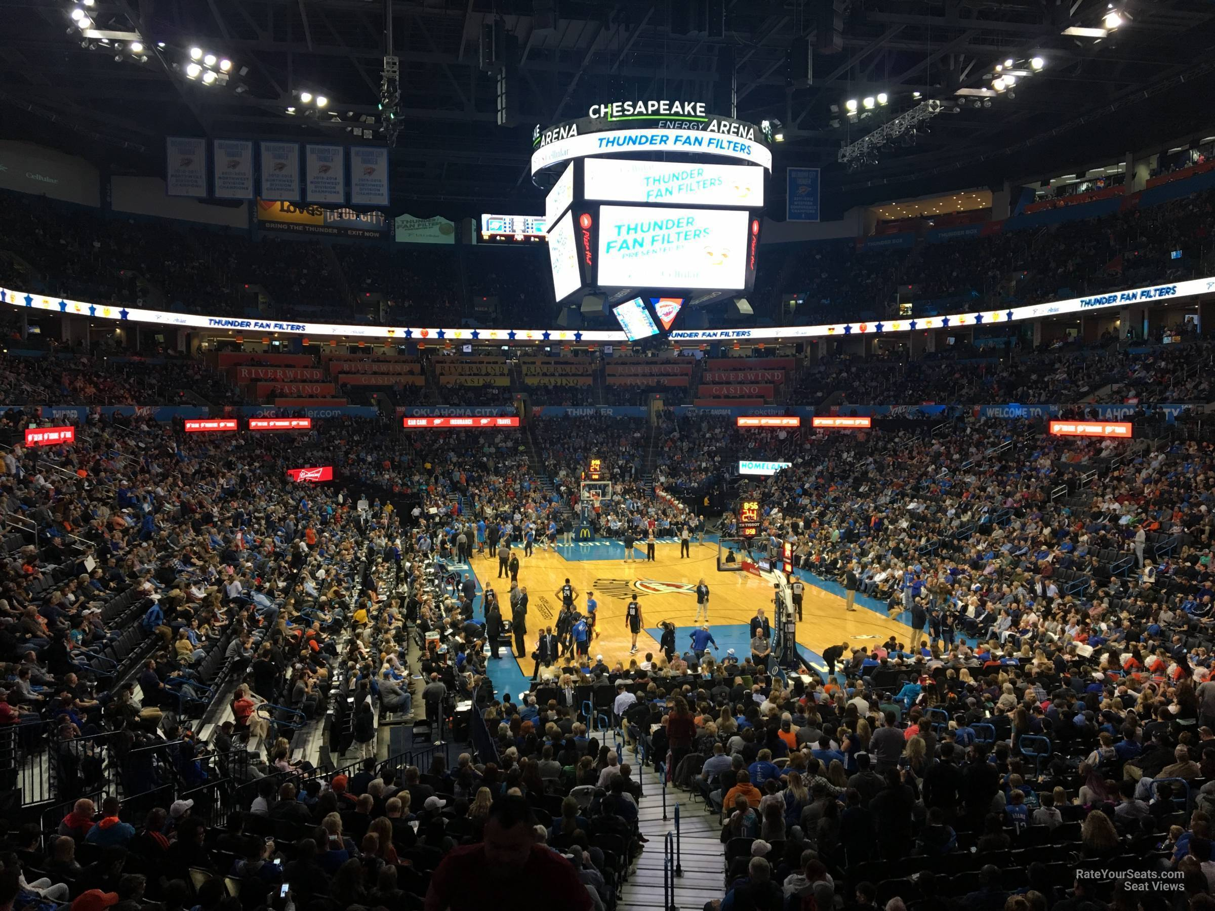 Seat View for Chesapeake Energy Arena Section 111, Row U