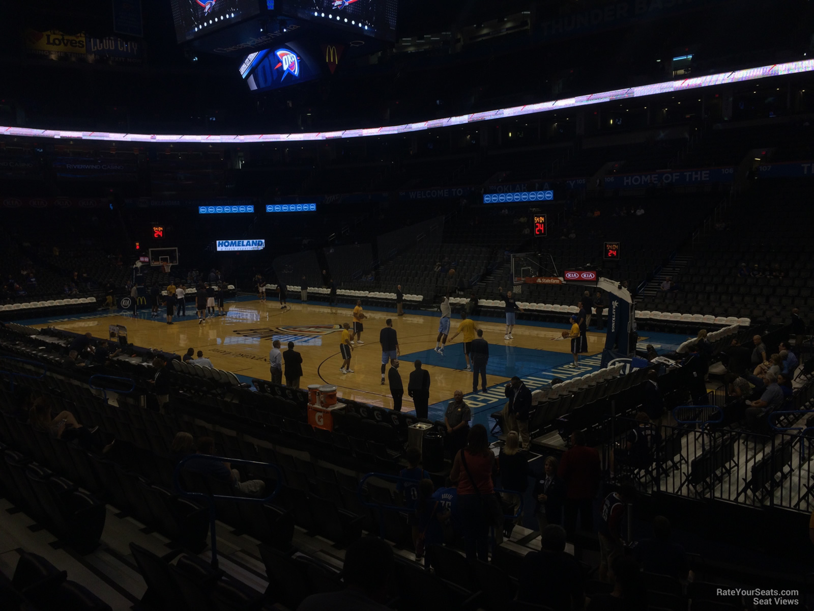 Seat View for Chesapeake Energy Arena Section 113, Row L