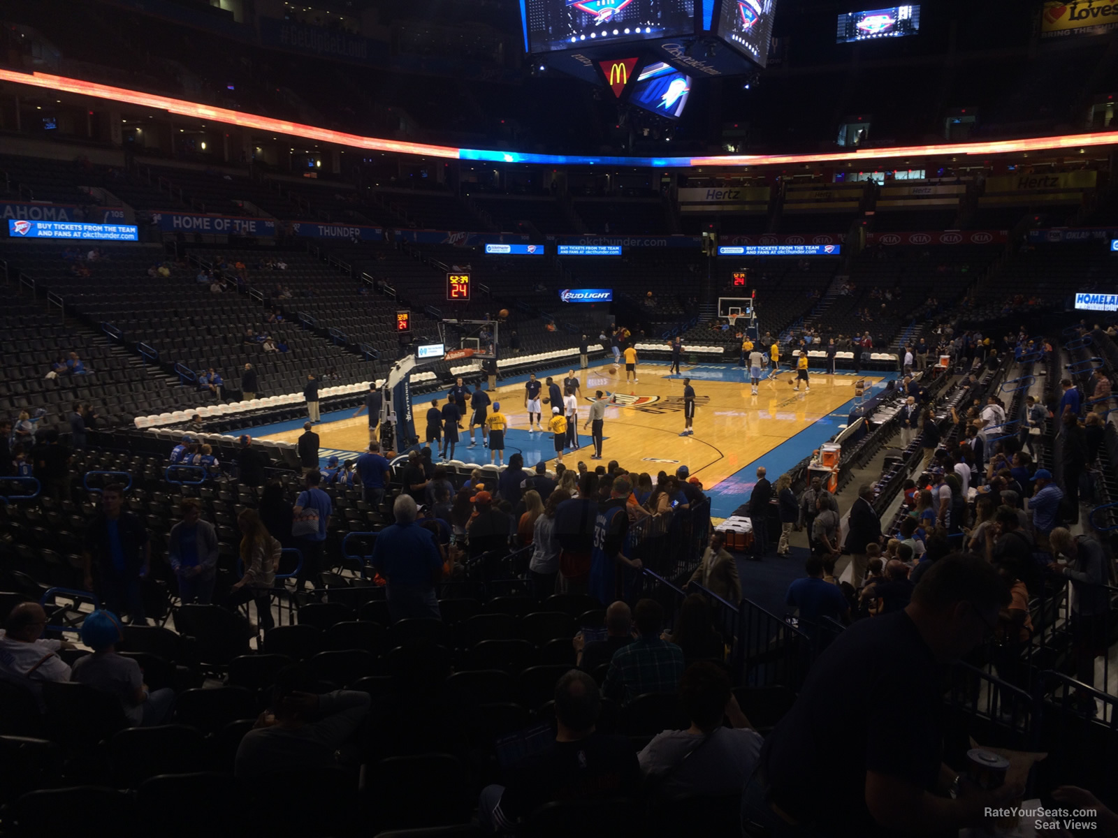 Seat View for Chesapeake Energy Arena Section 119, Row M