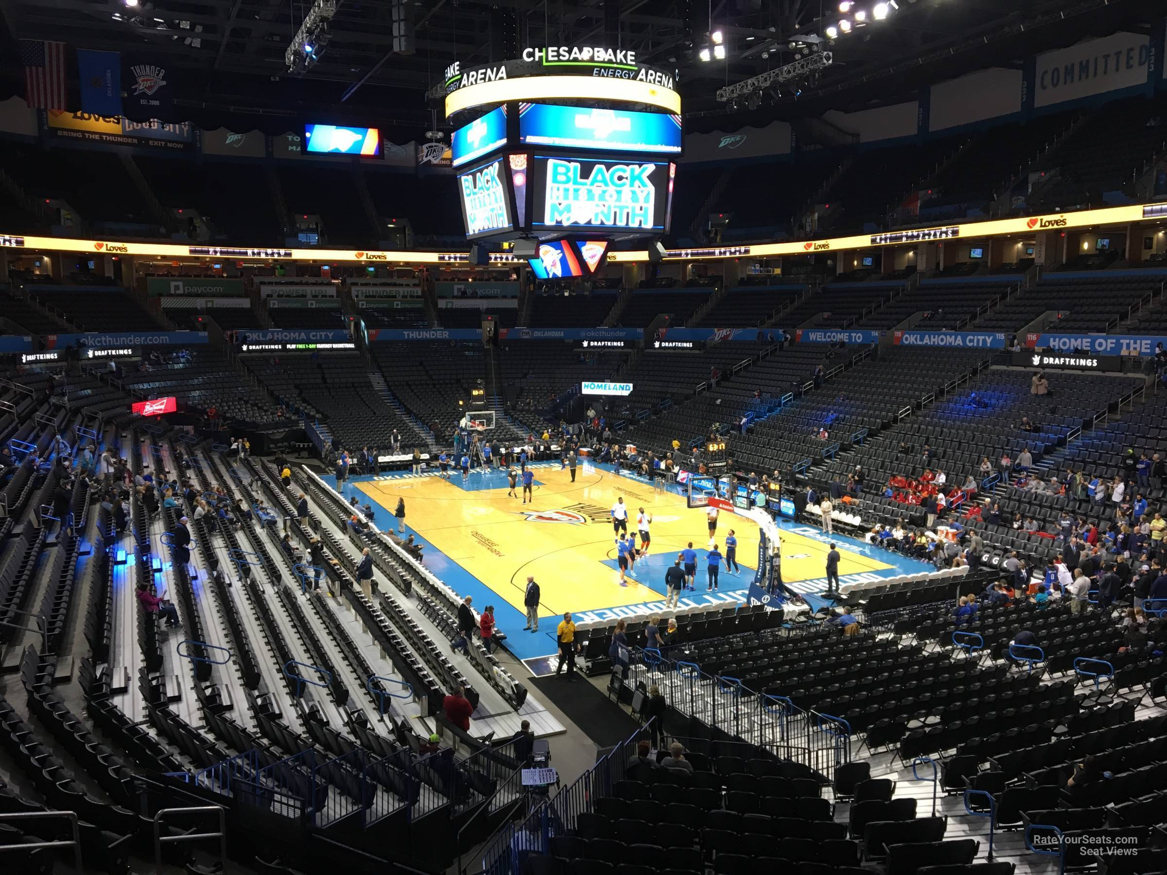 Seat View for Chesapeake Energy Arena Section 202, Row A