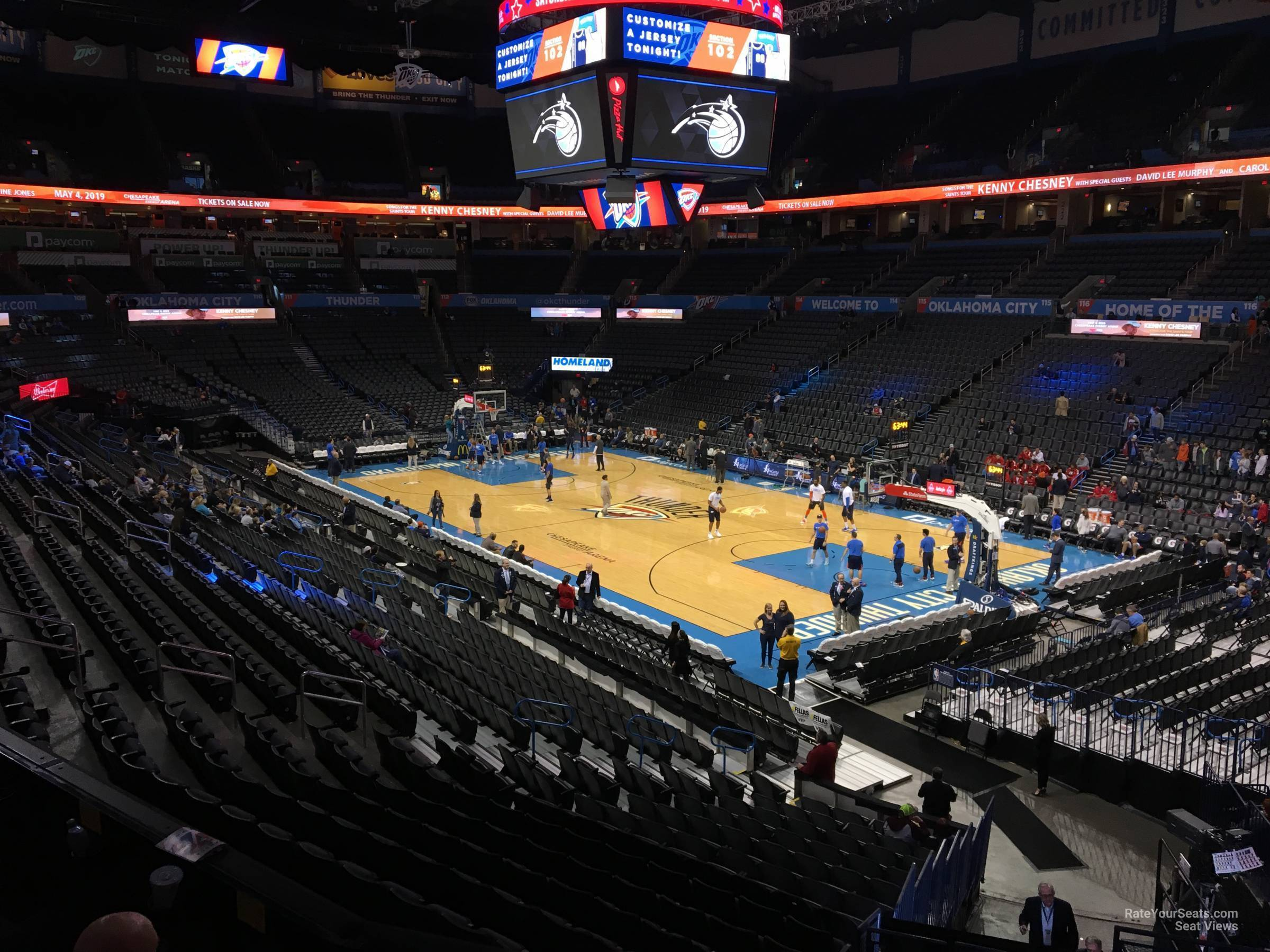 Seat View for Chesapeake Energy Arena Section 204, Row A