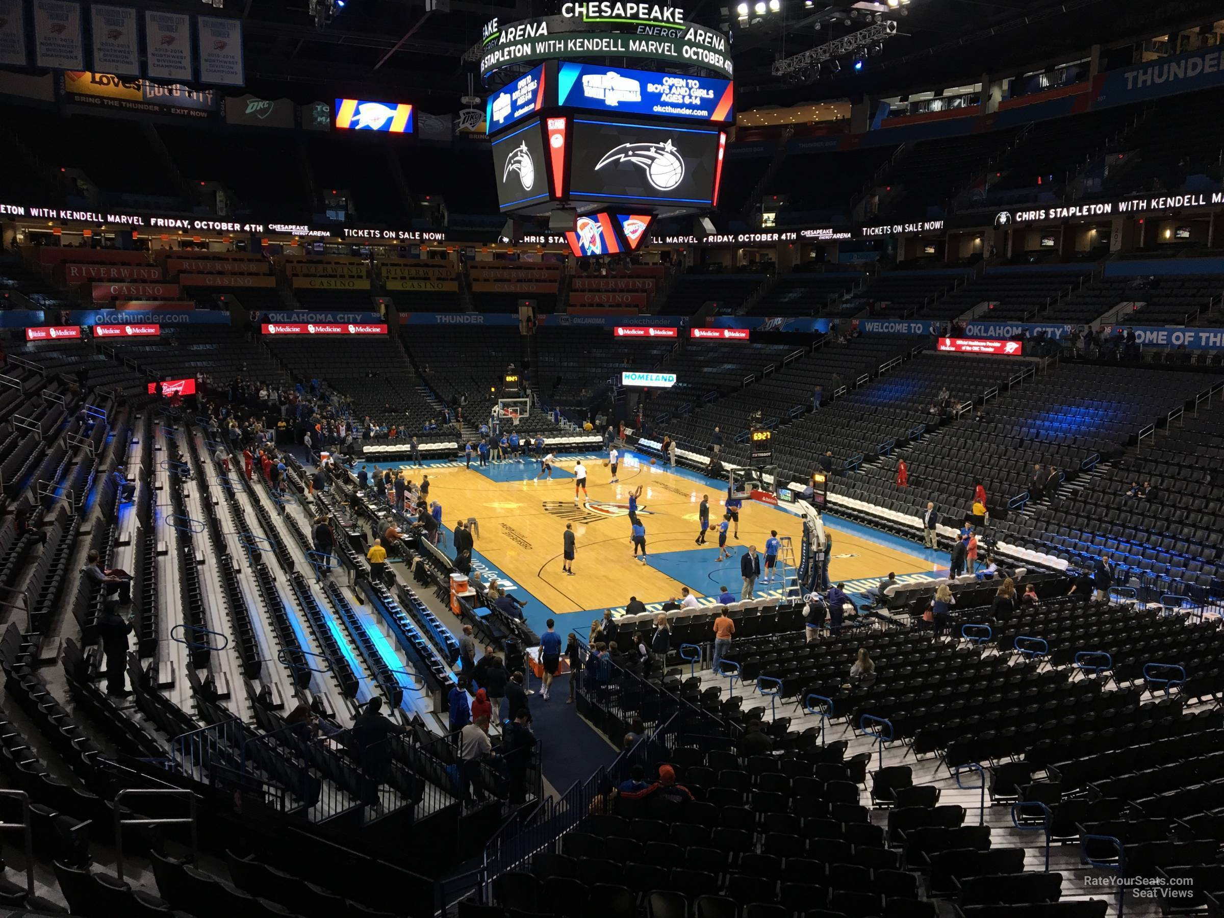 Seat View for Chesapeake Energy Arena Section 218, Row A