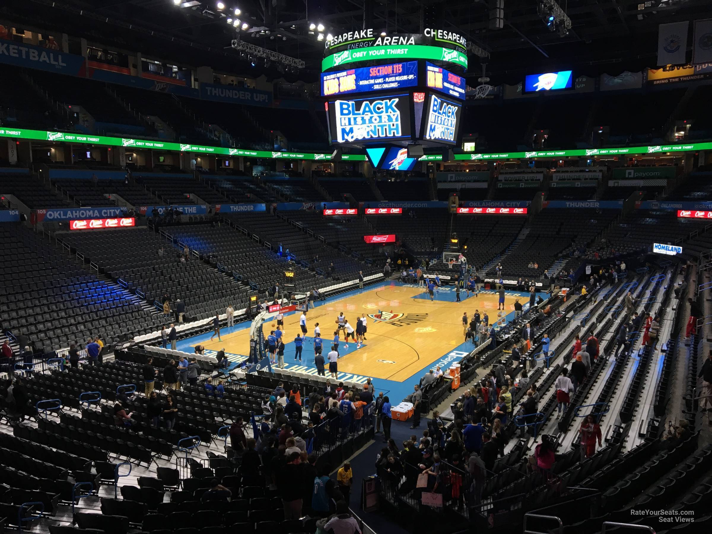 Seat View for Chesapeake Energy Arena Section 228, Row A