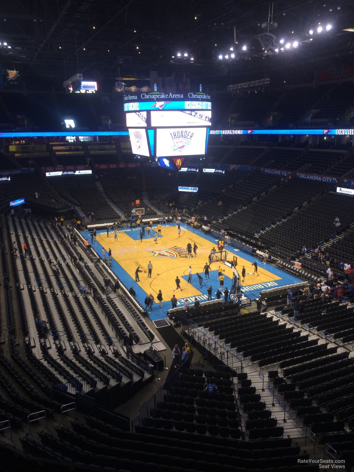 Seat View for Chesapeake Energy Arena Section 303, Row A