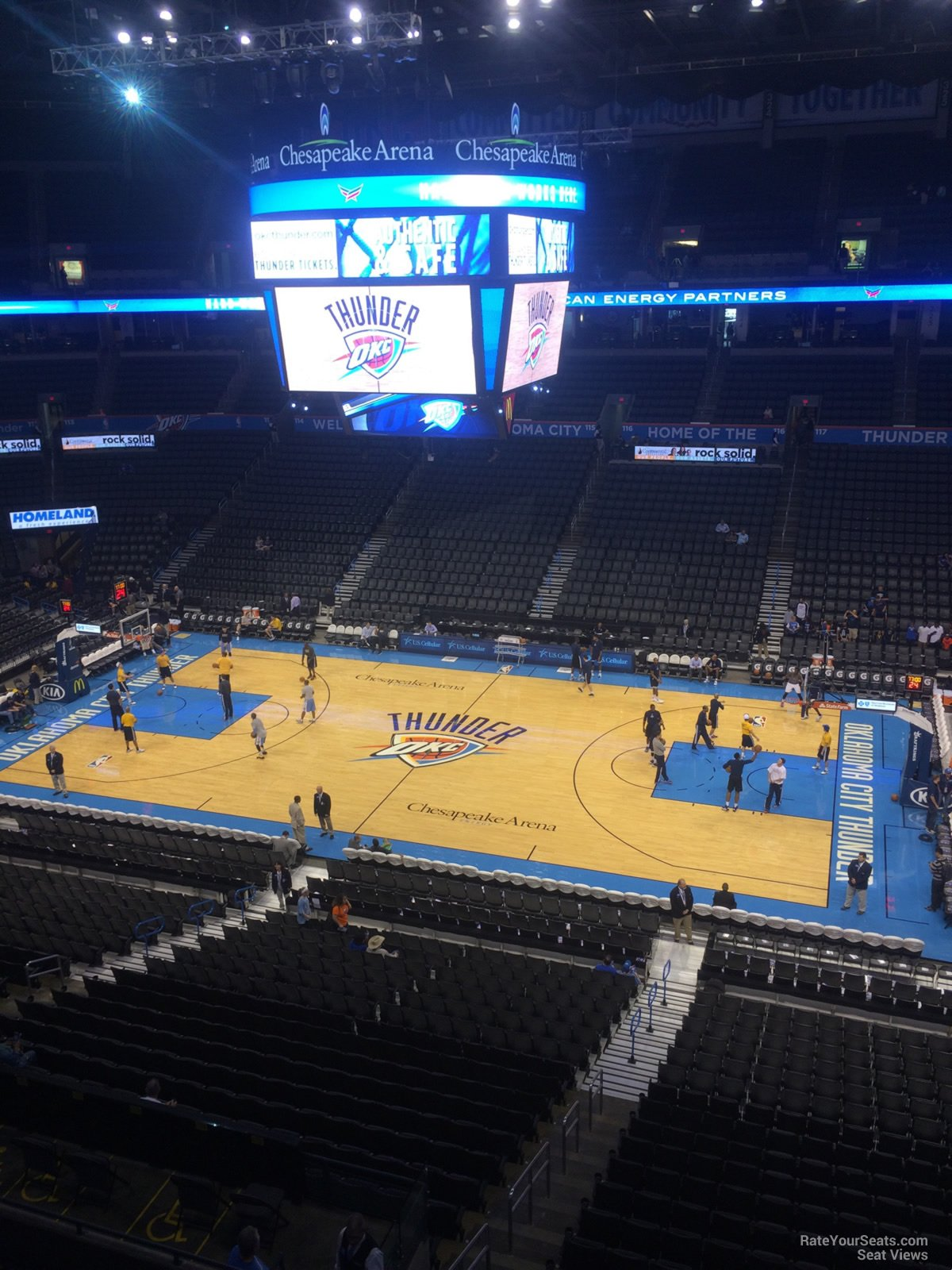 Seat View for Chesapeake Energy Arena Section 306, Row A