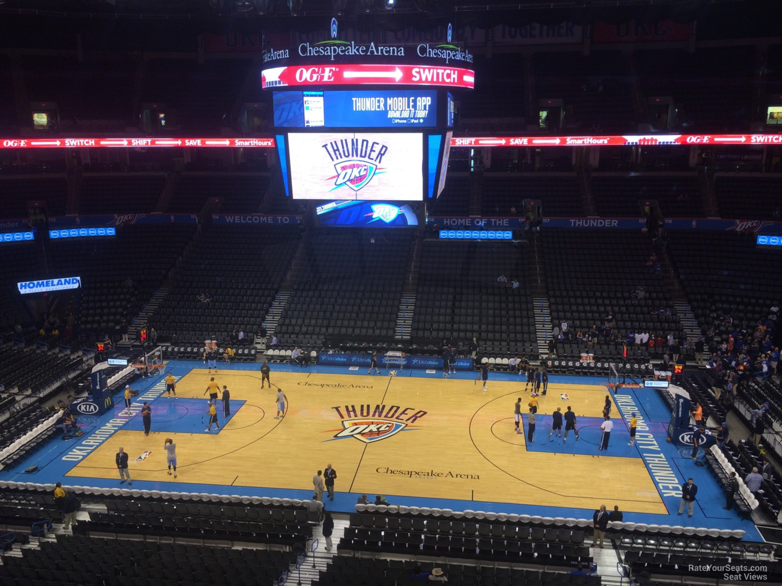 Seat View for Chesapeake Energy Arena Section 308, Row A
