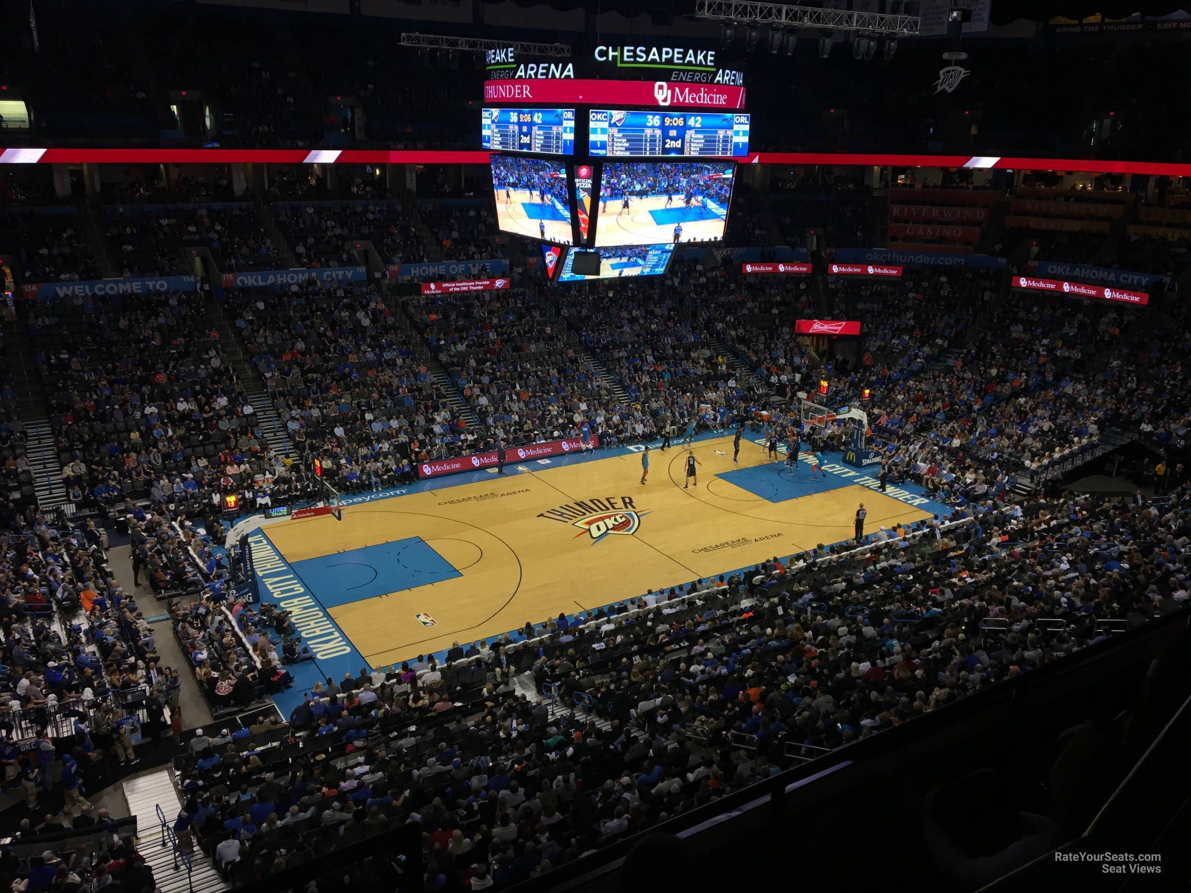Seat View for Chesapeake Energy Arena Section 311, Row A