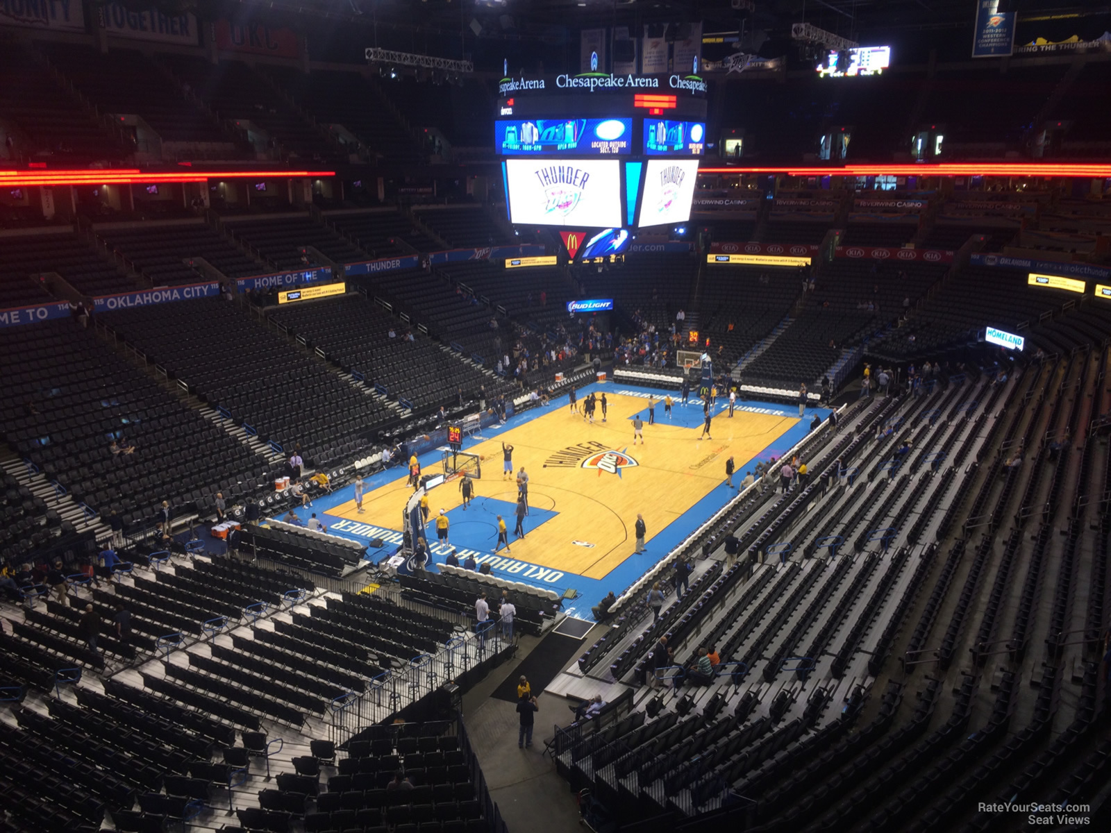 Seat View for Chesapeake Energy Arena Section 313, Row A