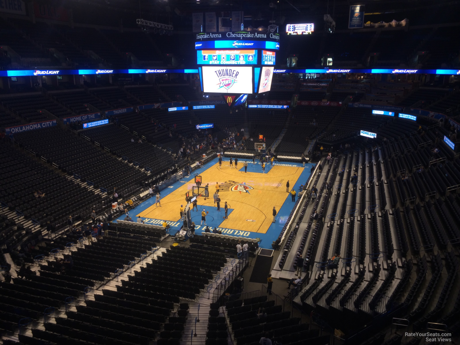 Seat View for Chesapeake Energy Arena Section 314, Row A