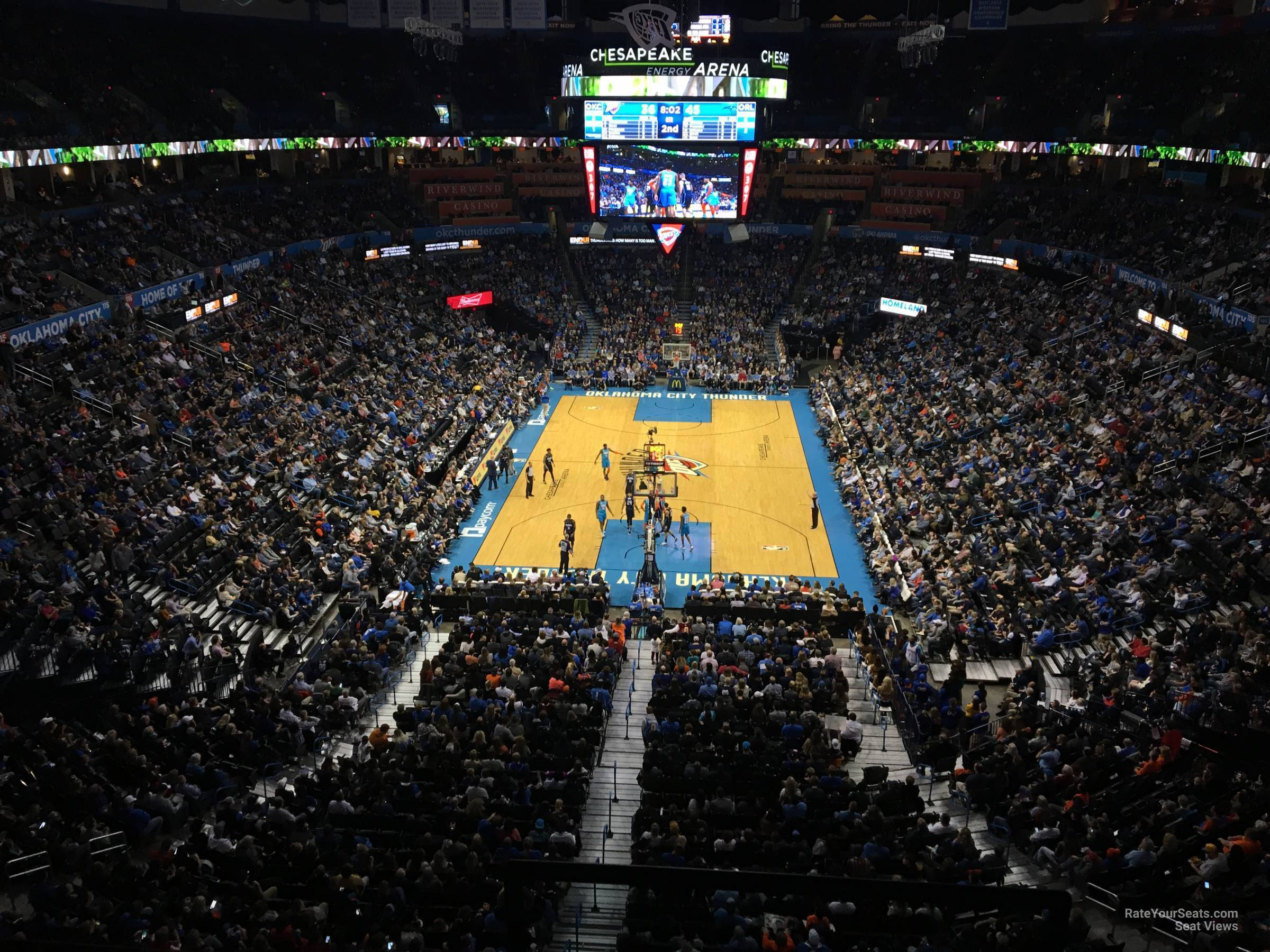 Seat View for Chesapeake Energy Arena Section 316, Row A