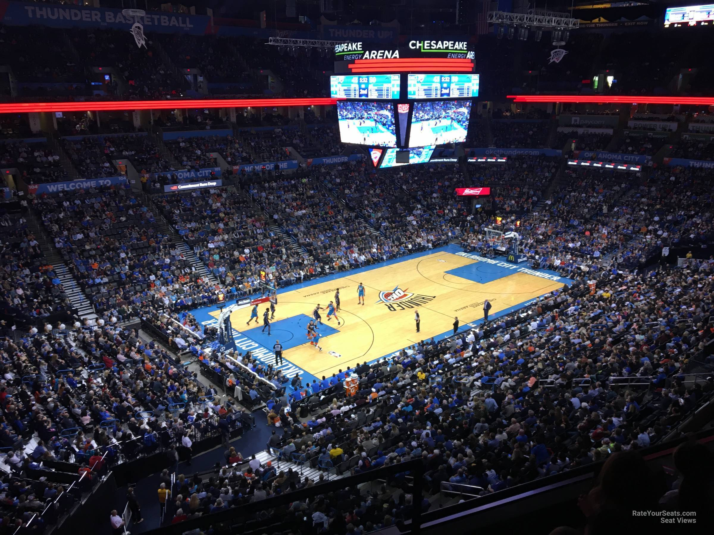 Seat View for Chesapeake Energy Arena Section 327, Row A