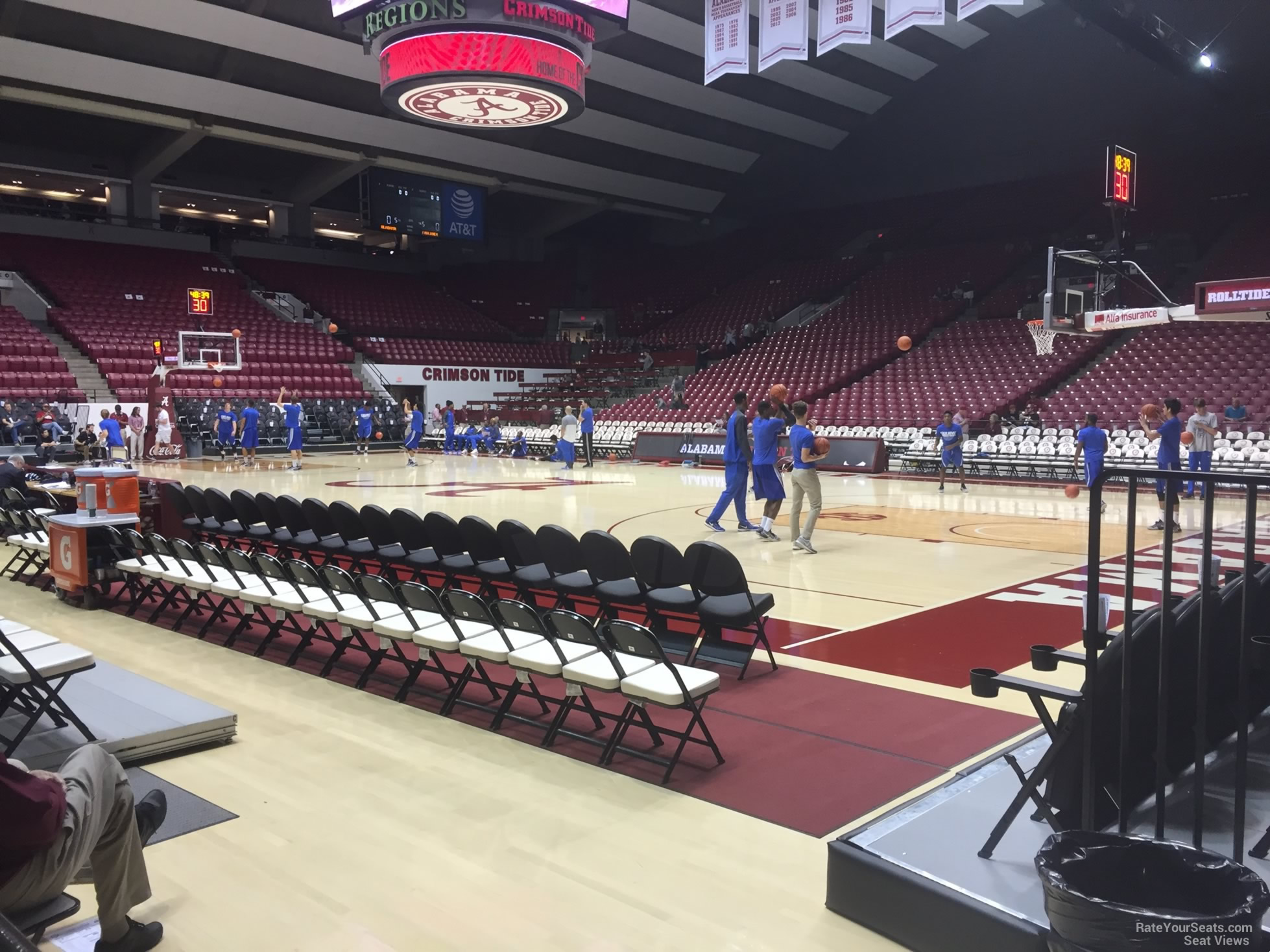 Seat View for Coleman Coliseum Section B, Row 1