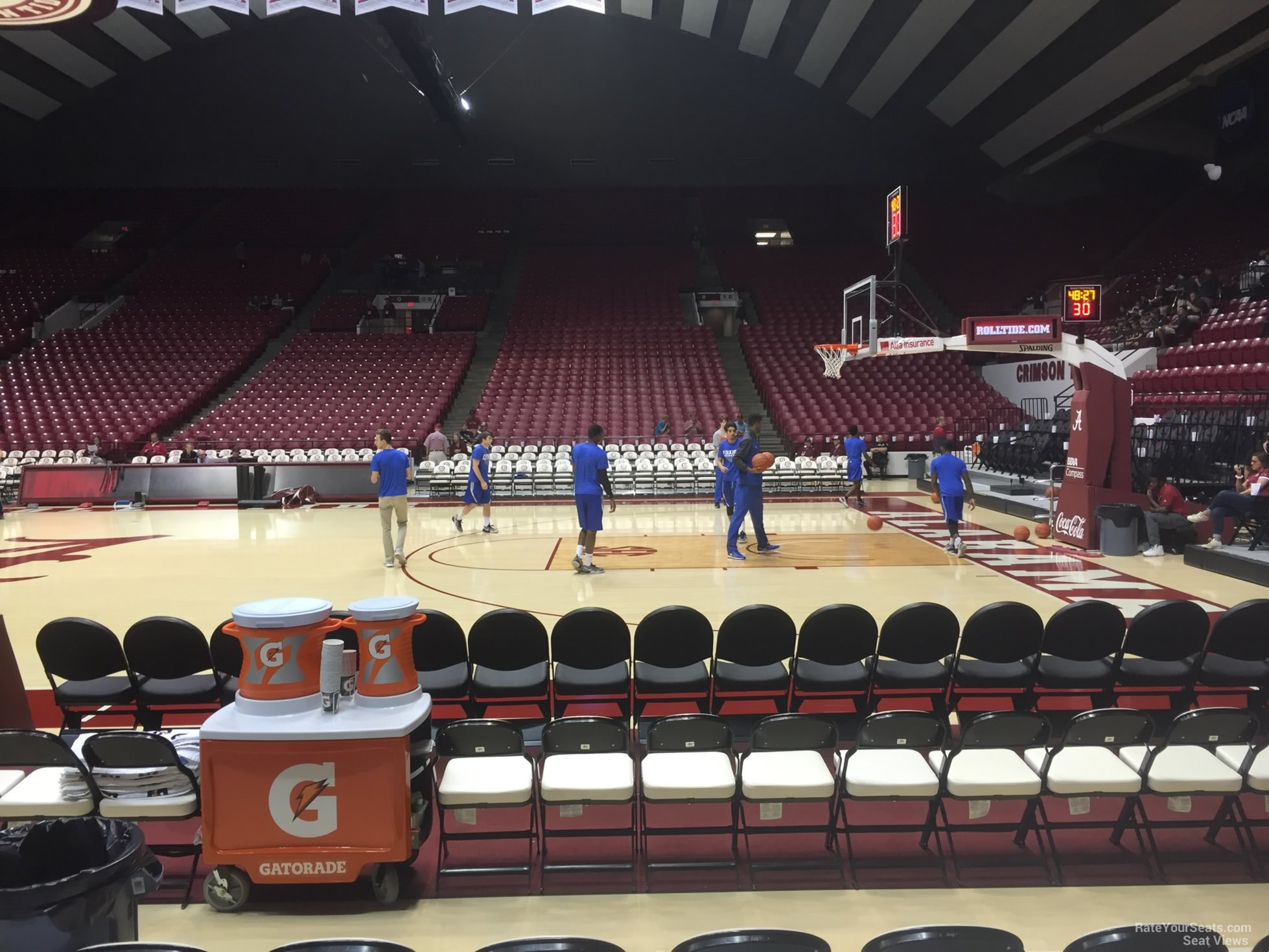 Seat View for Coleman Coliseum Section C, Row 1