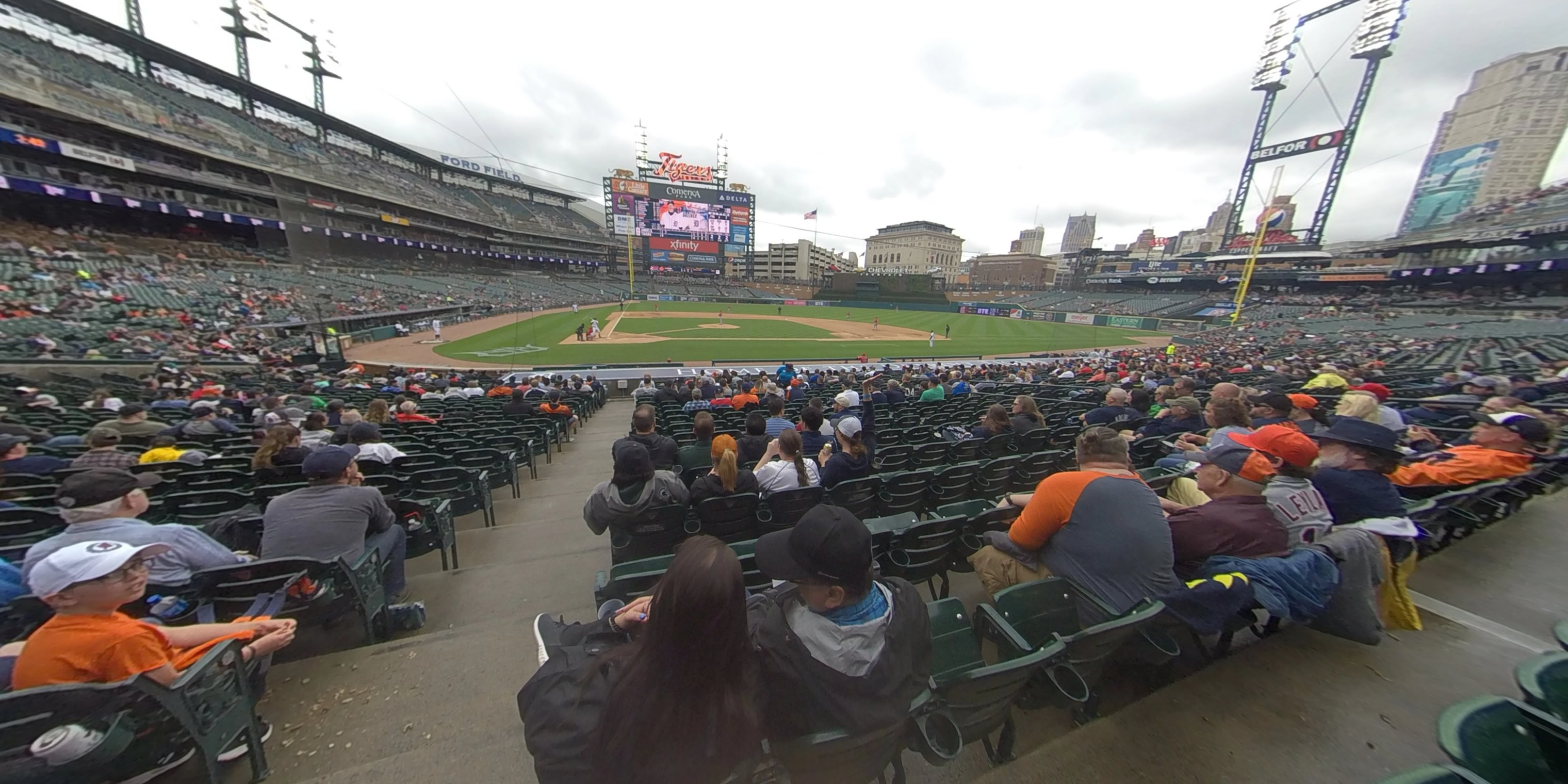 360° Photo From Comerica Park Section 124